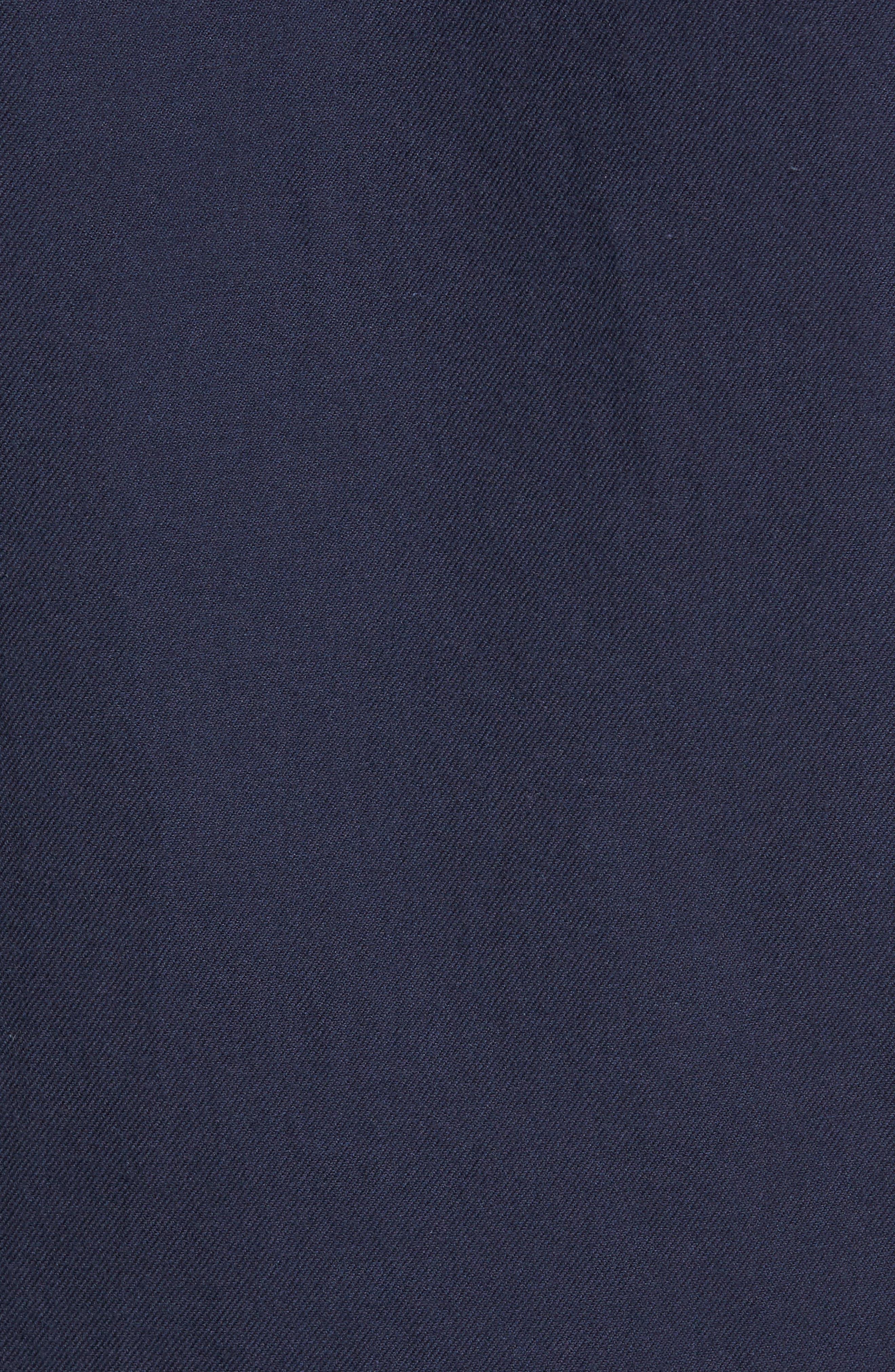 The Rail Short Sleeve Twill Shirt,                             Alternate thumbnail 5, color,                             Navy Iris