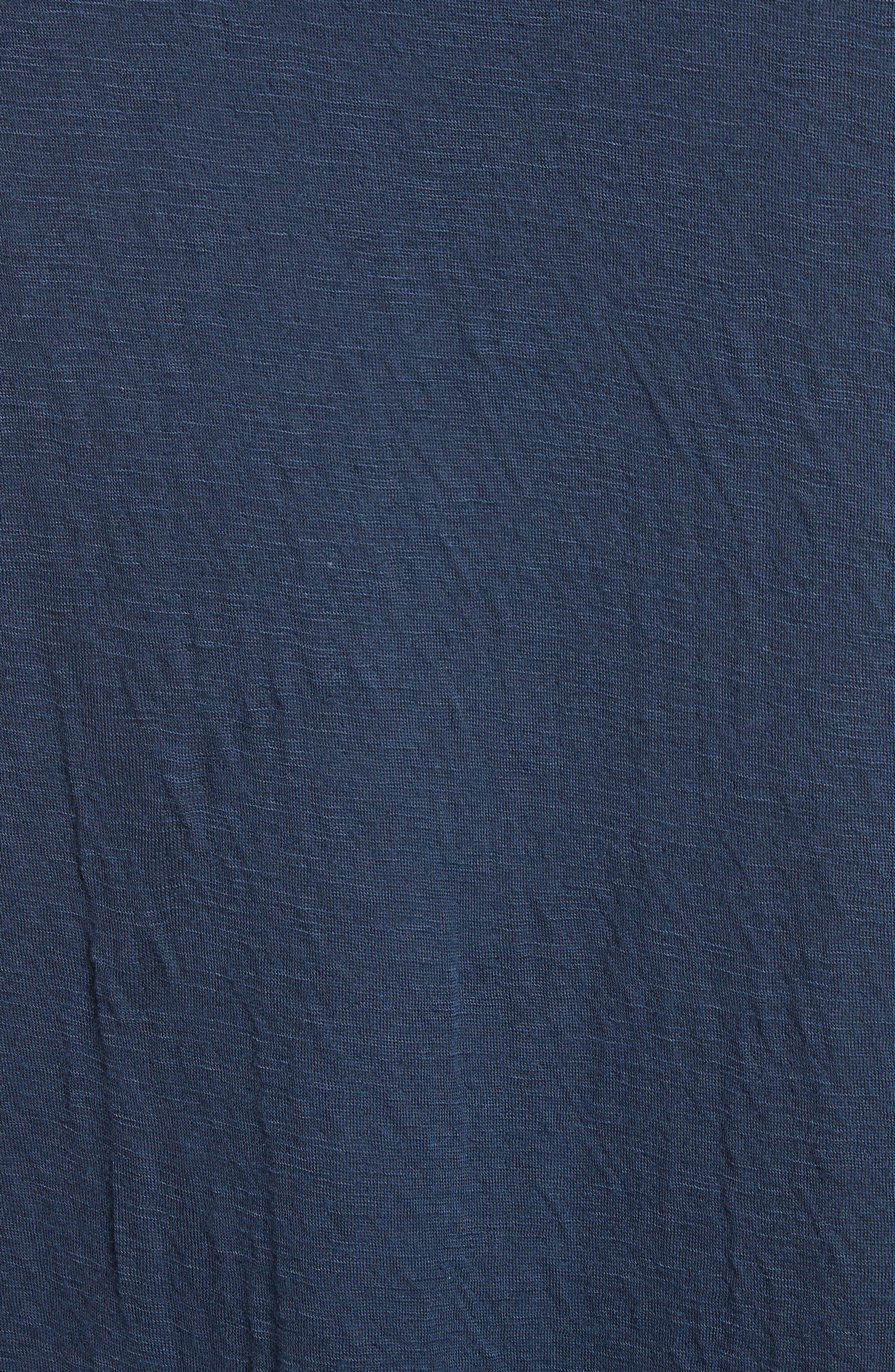 Double Face T-Shirt,                             Alternate thumbnail 5, color,                             Navy