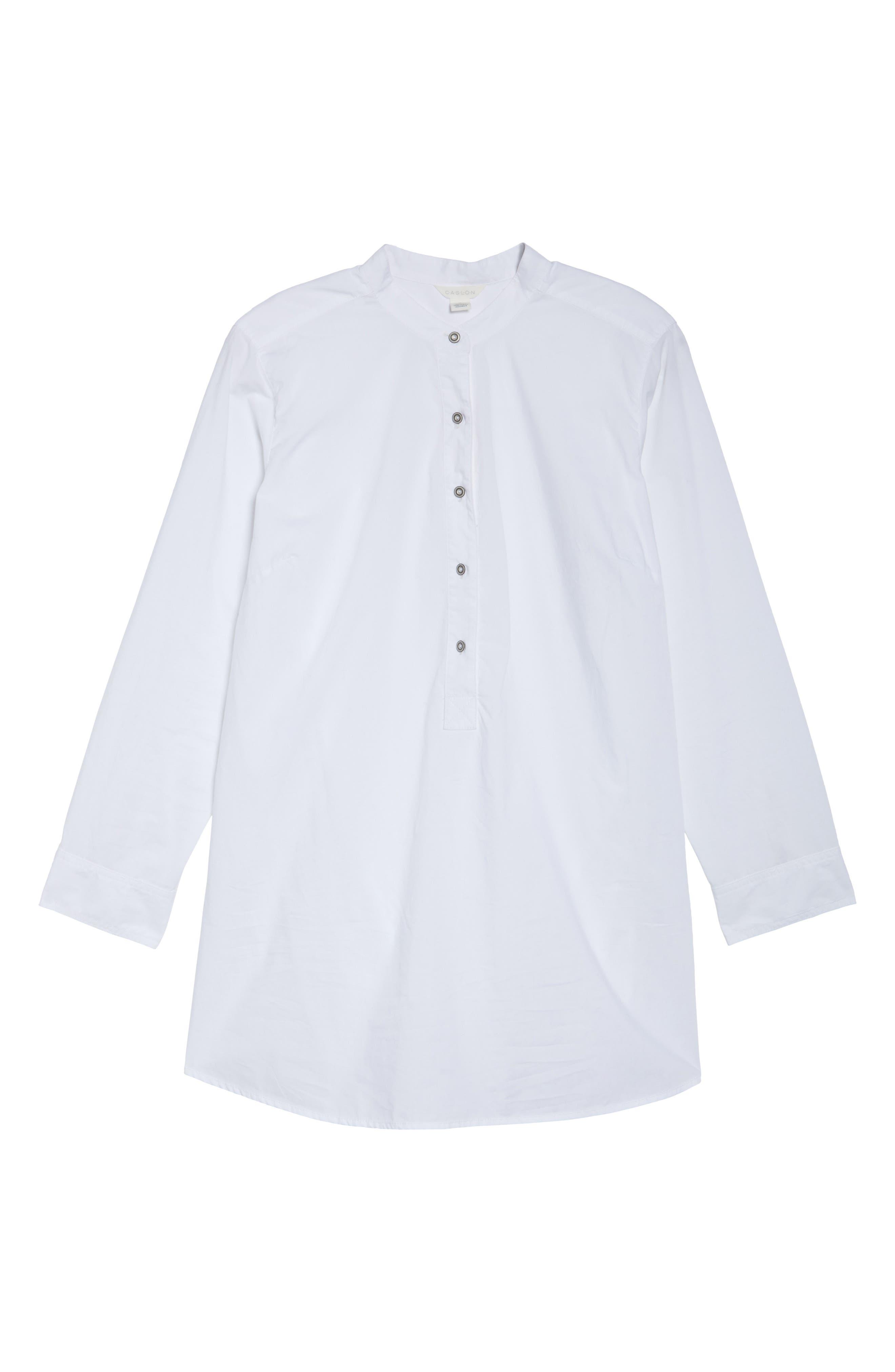 Alternate Image 6  - Caslon® Popover Shirt (Plus Size)