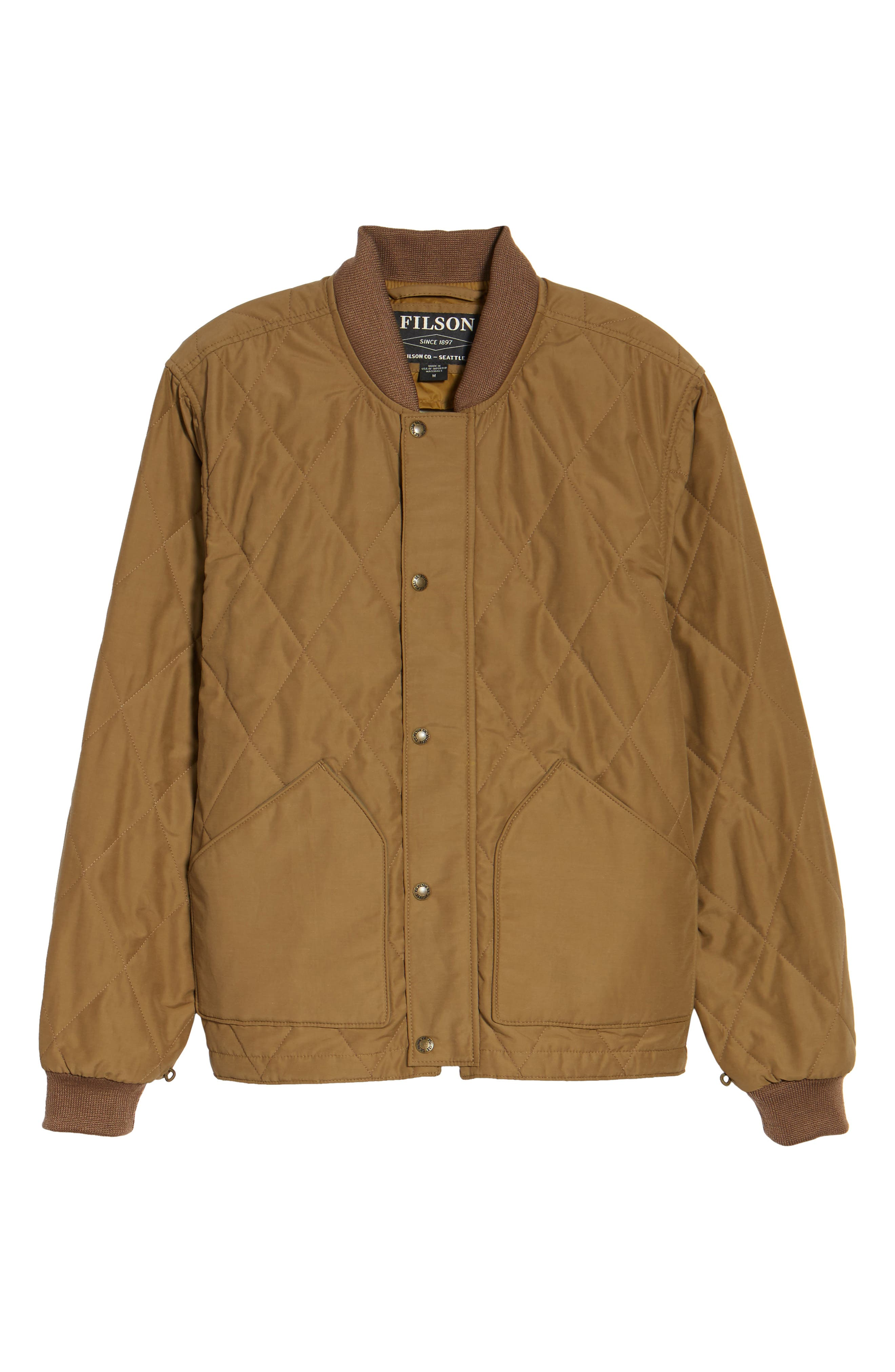 Alternate Image 6  - Filson Quilted Pack Water-Resistant Jacket