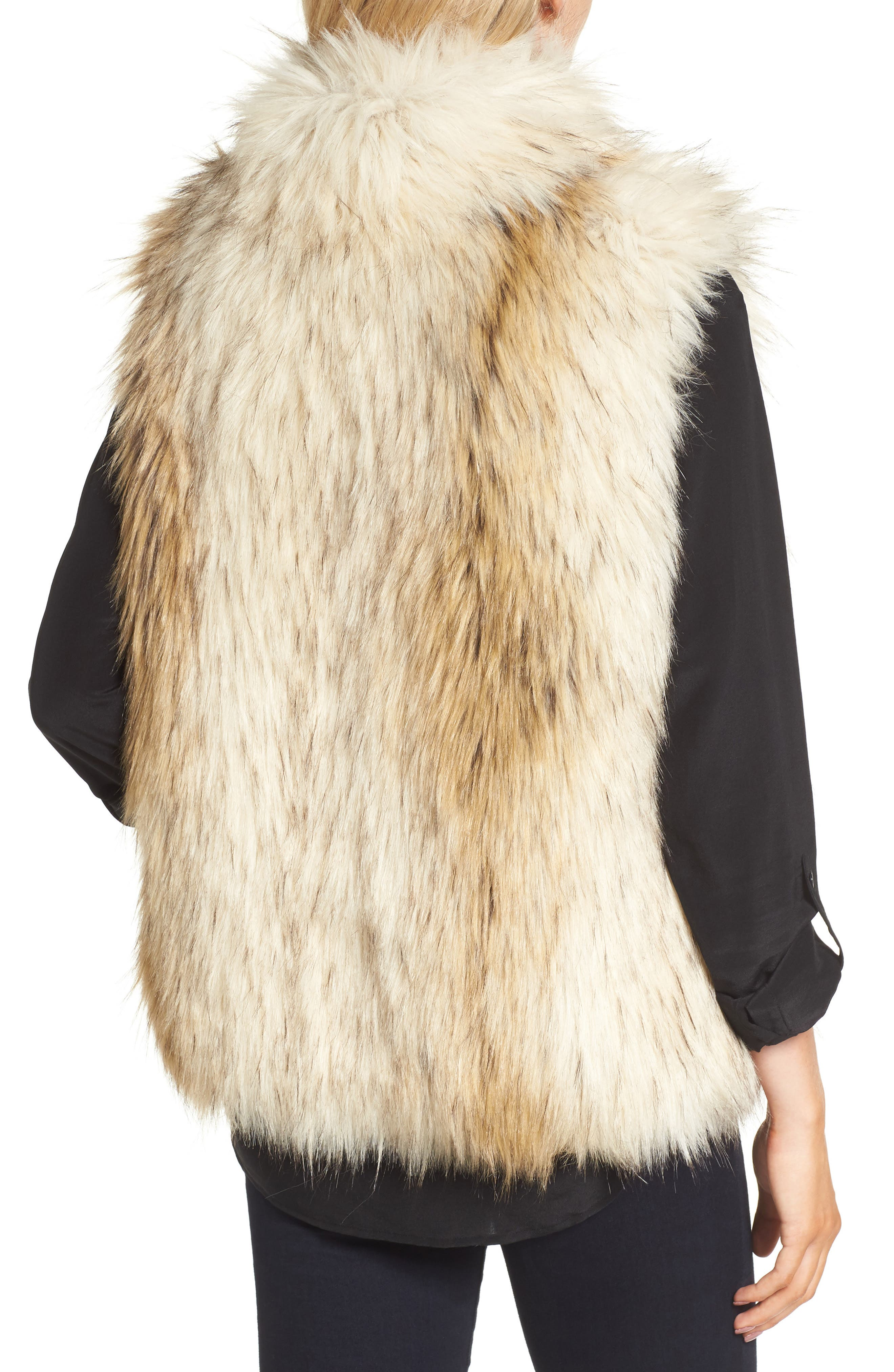 Alternate Image 2  - BB Dakota Elvan Open Front Faux Fur Vest