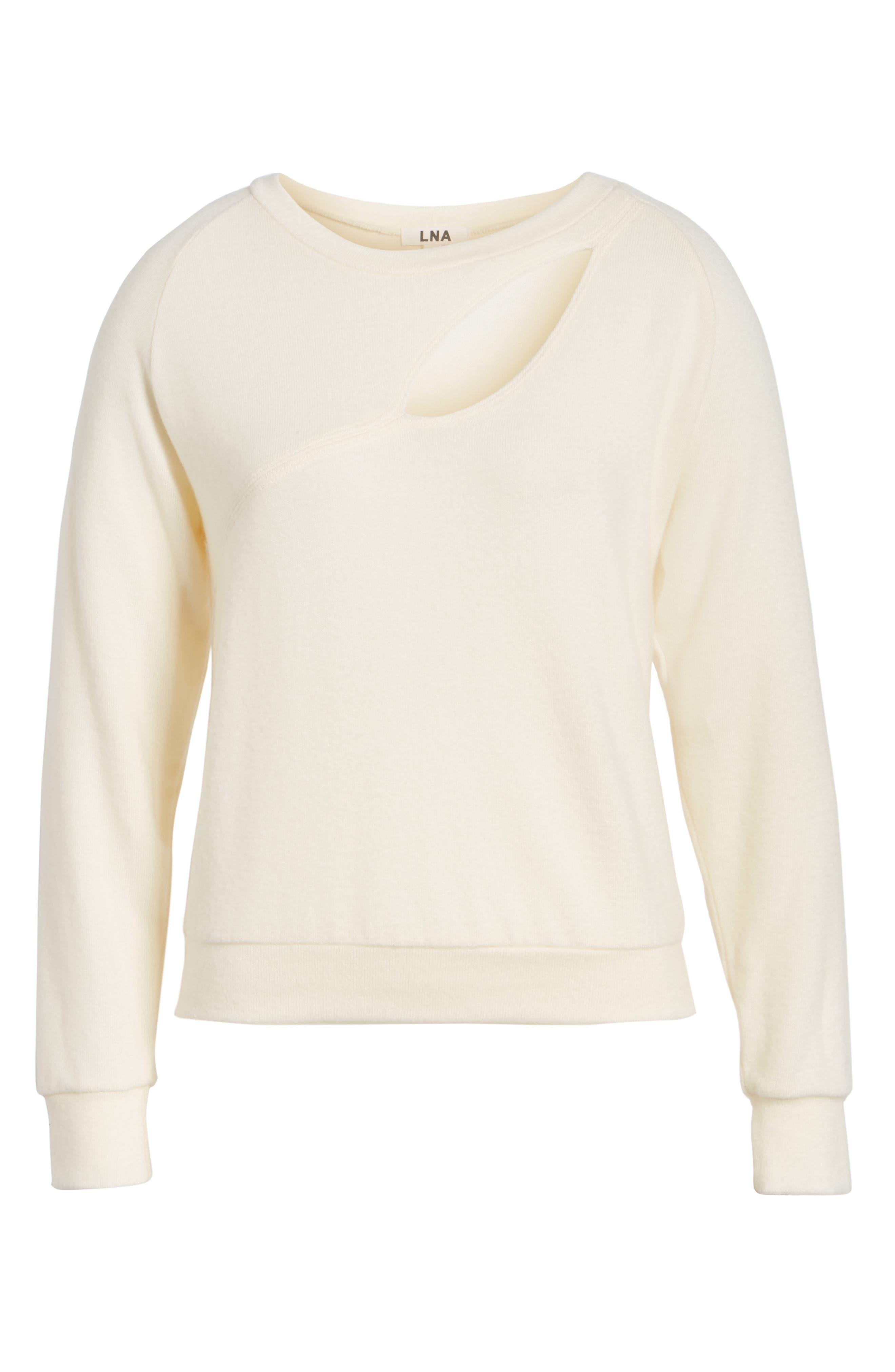 Alternate Image 6  - LNA Phased Brushed Cutout Sweater