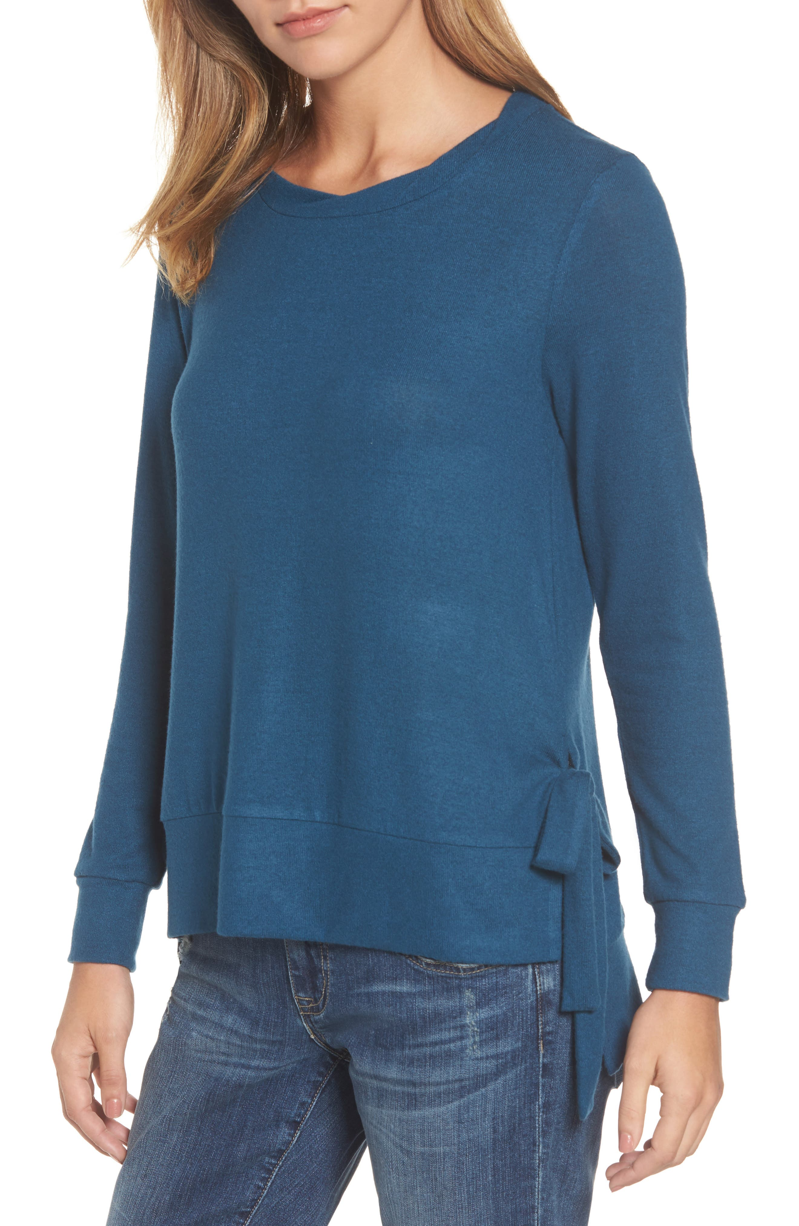 Gibson Side-Tie Fleece Pullover