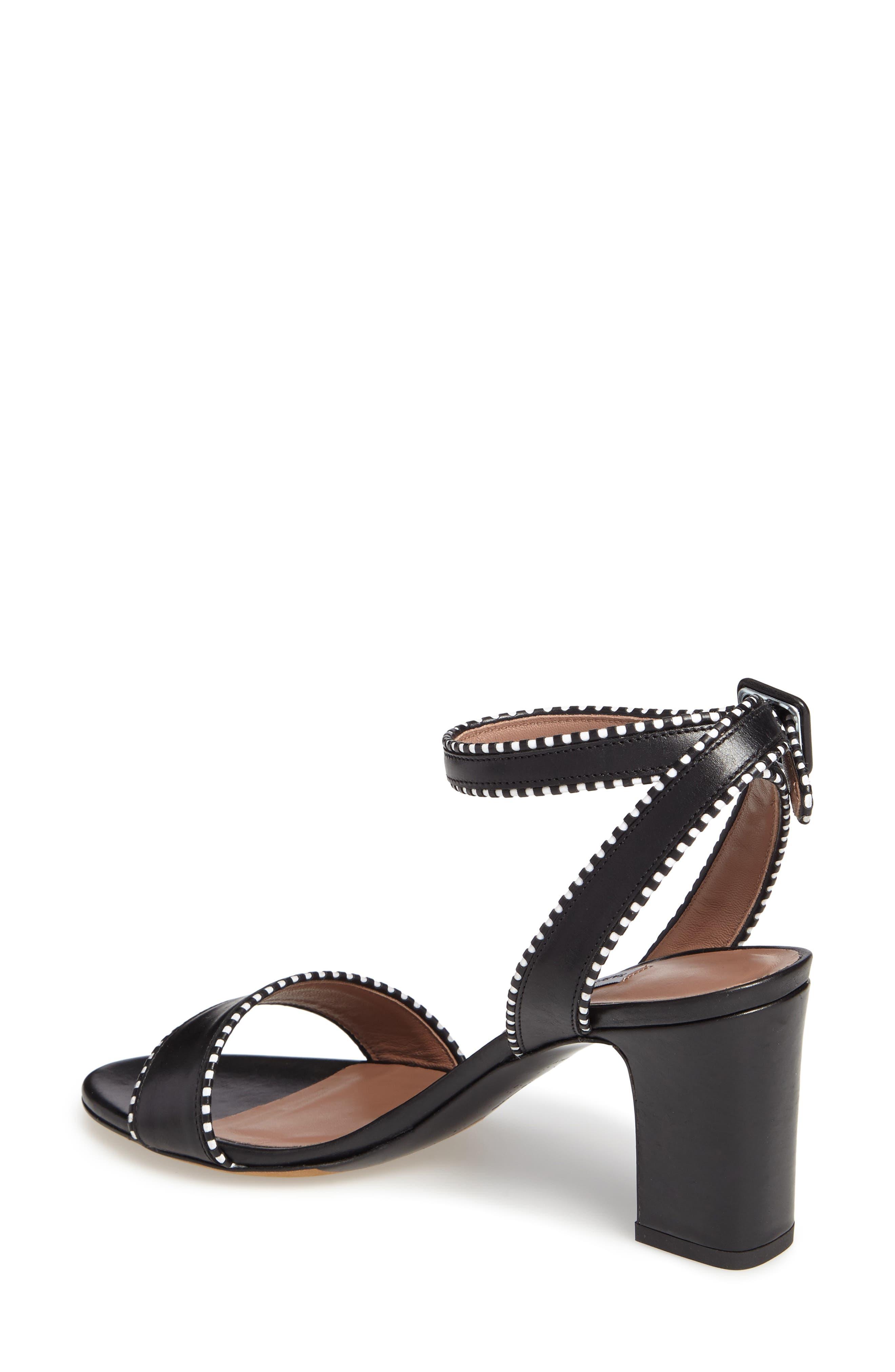 Leticia Profilo Ankle Strap Sandal,                             Alternate thumbnail 2, color,                             Black