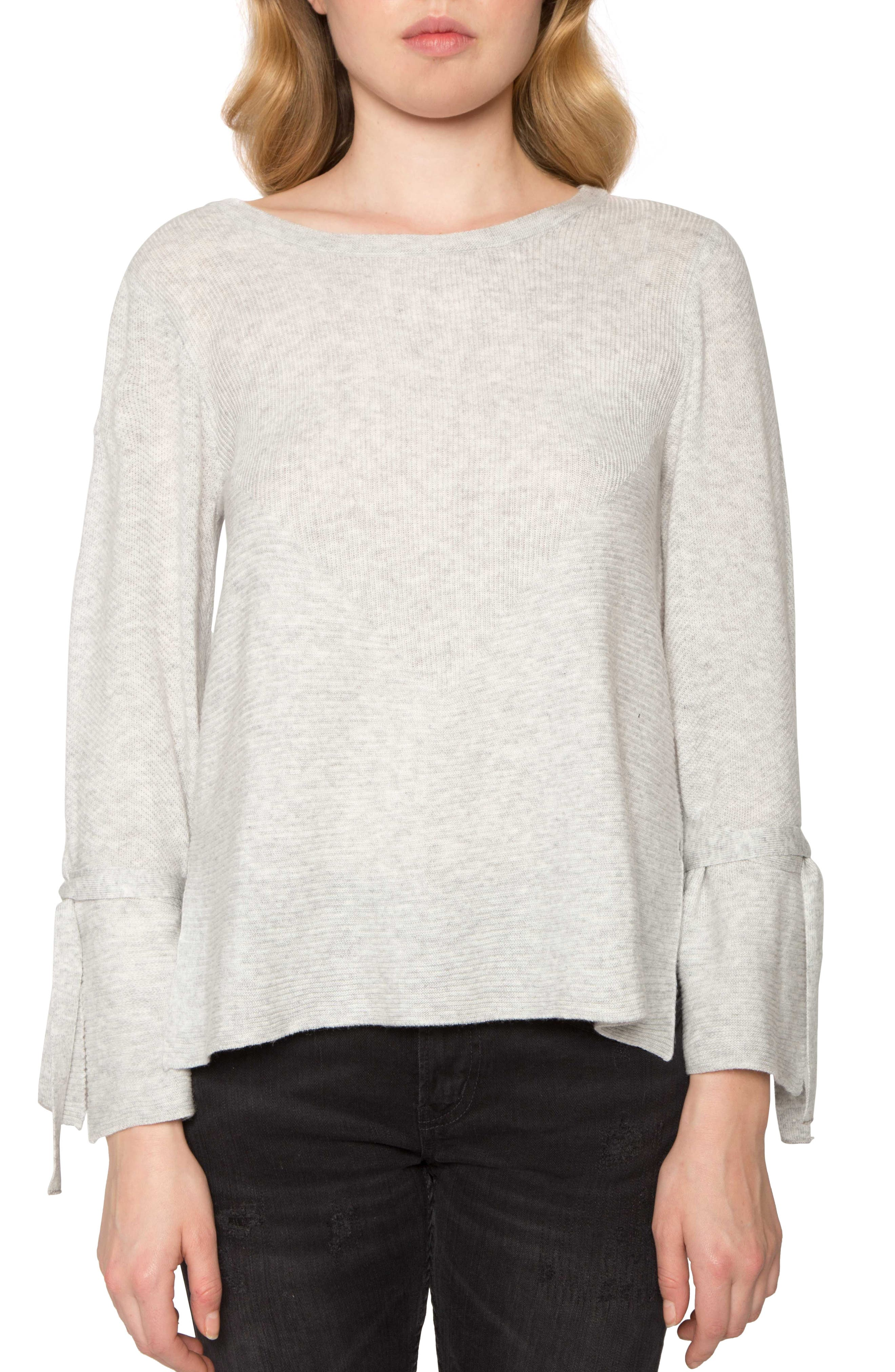 Willow & Clay Tie Sleeve Sweater