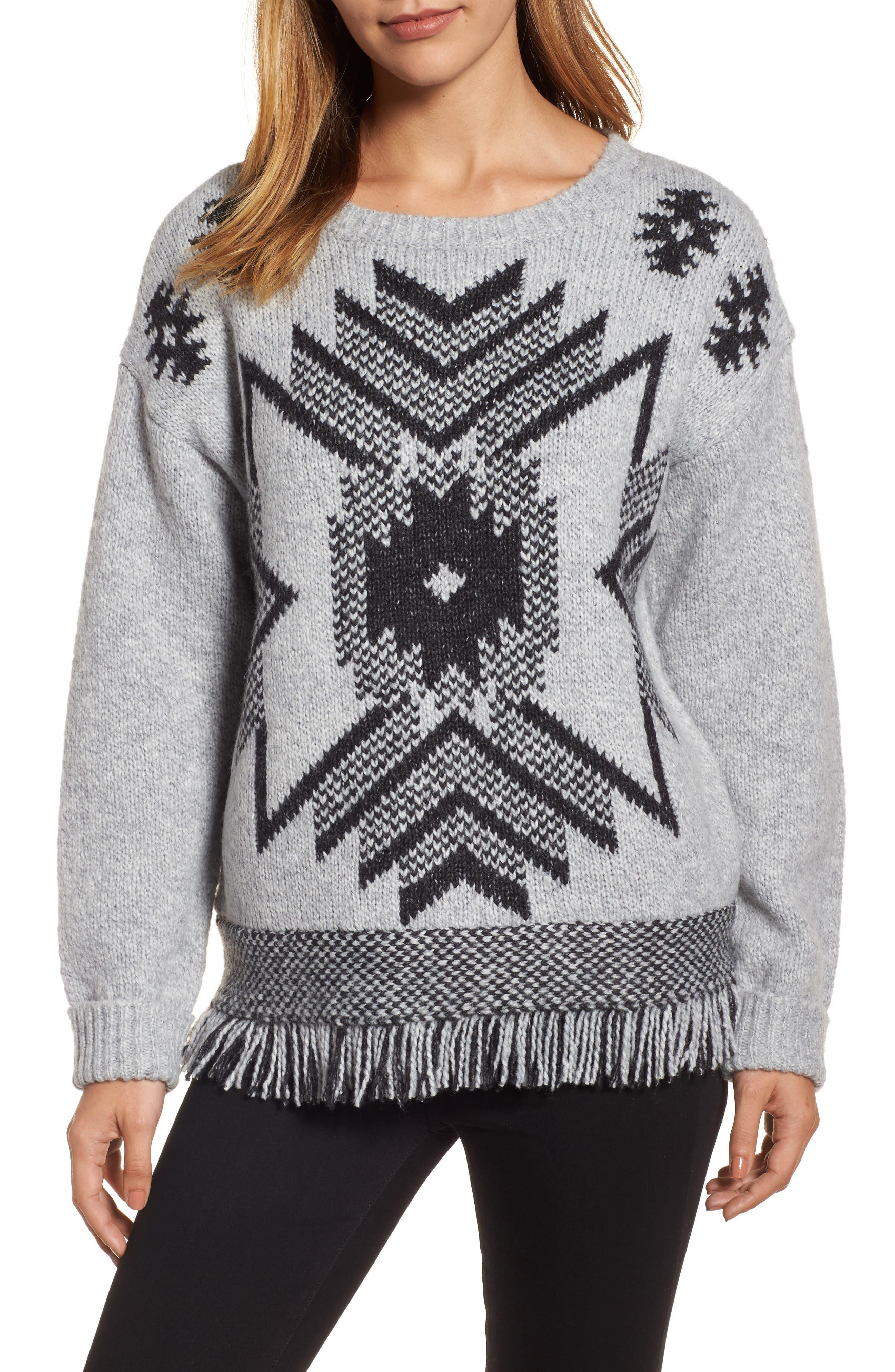 Press Fringe Sweater