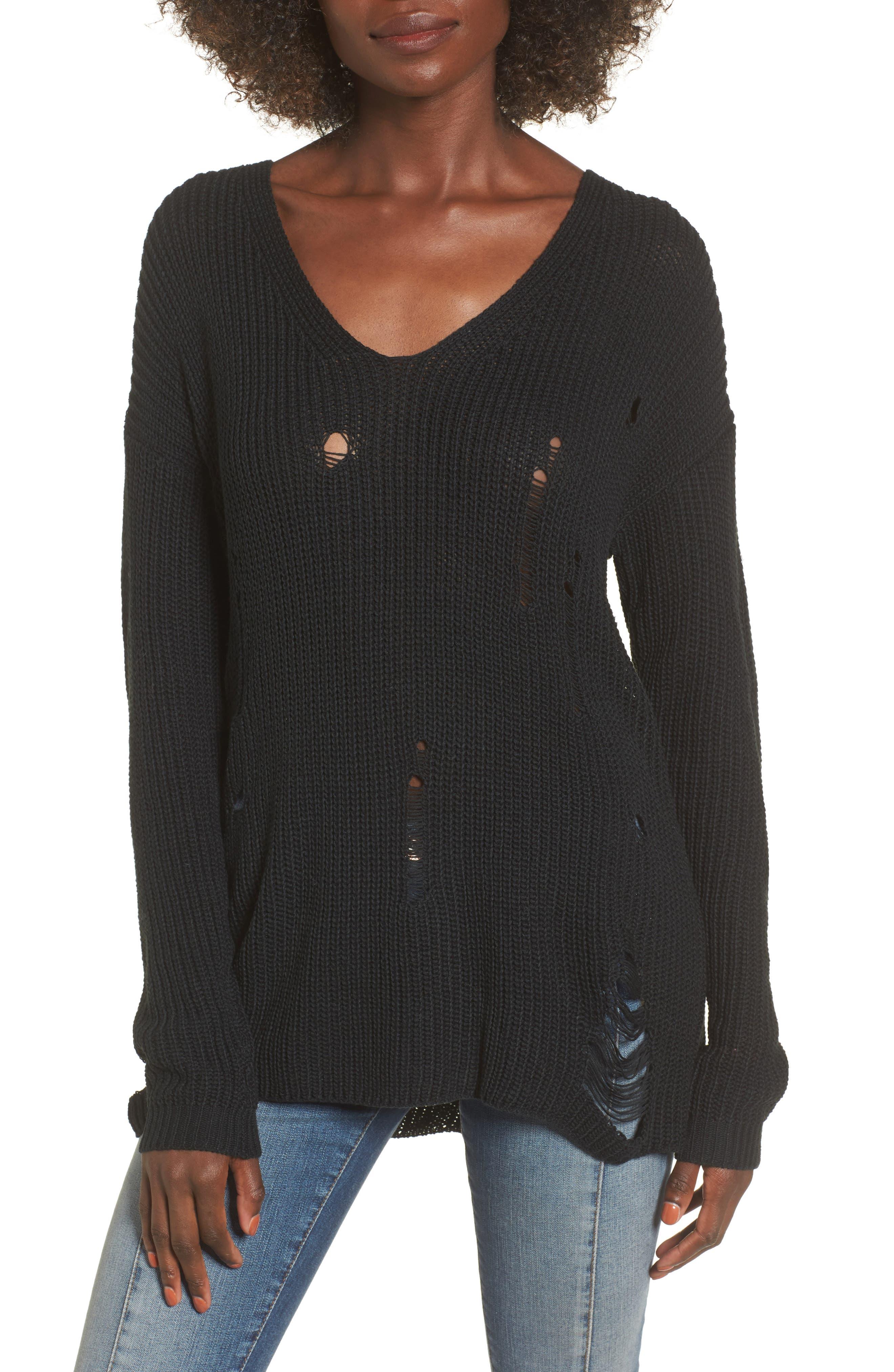 Cyndi Sweater,                             Main thumbnail 1, color,                             Black