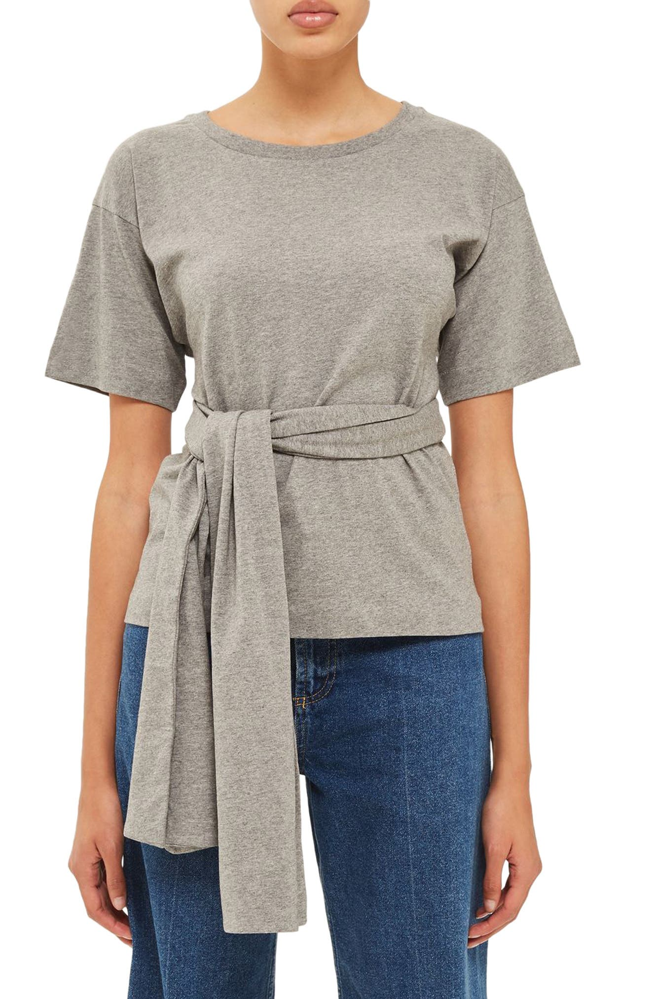 Alternate Image 1 Selected - Topshop Boutique Wrap Waist Tee