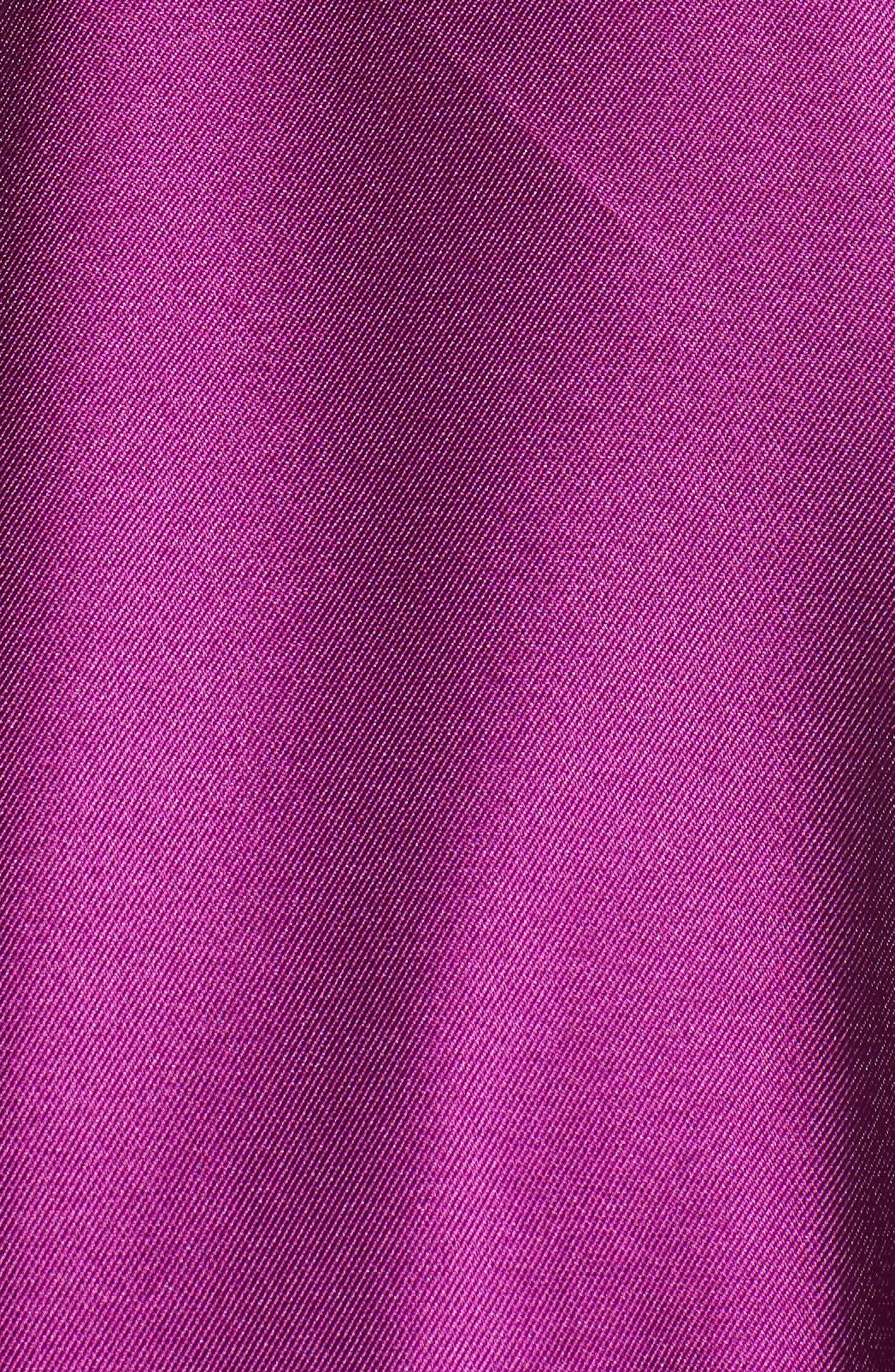 Embellished Mikado High/Low Gown,                             Alternate thumbnail 5, color,                             Ultra Berry