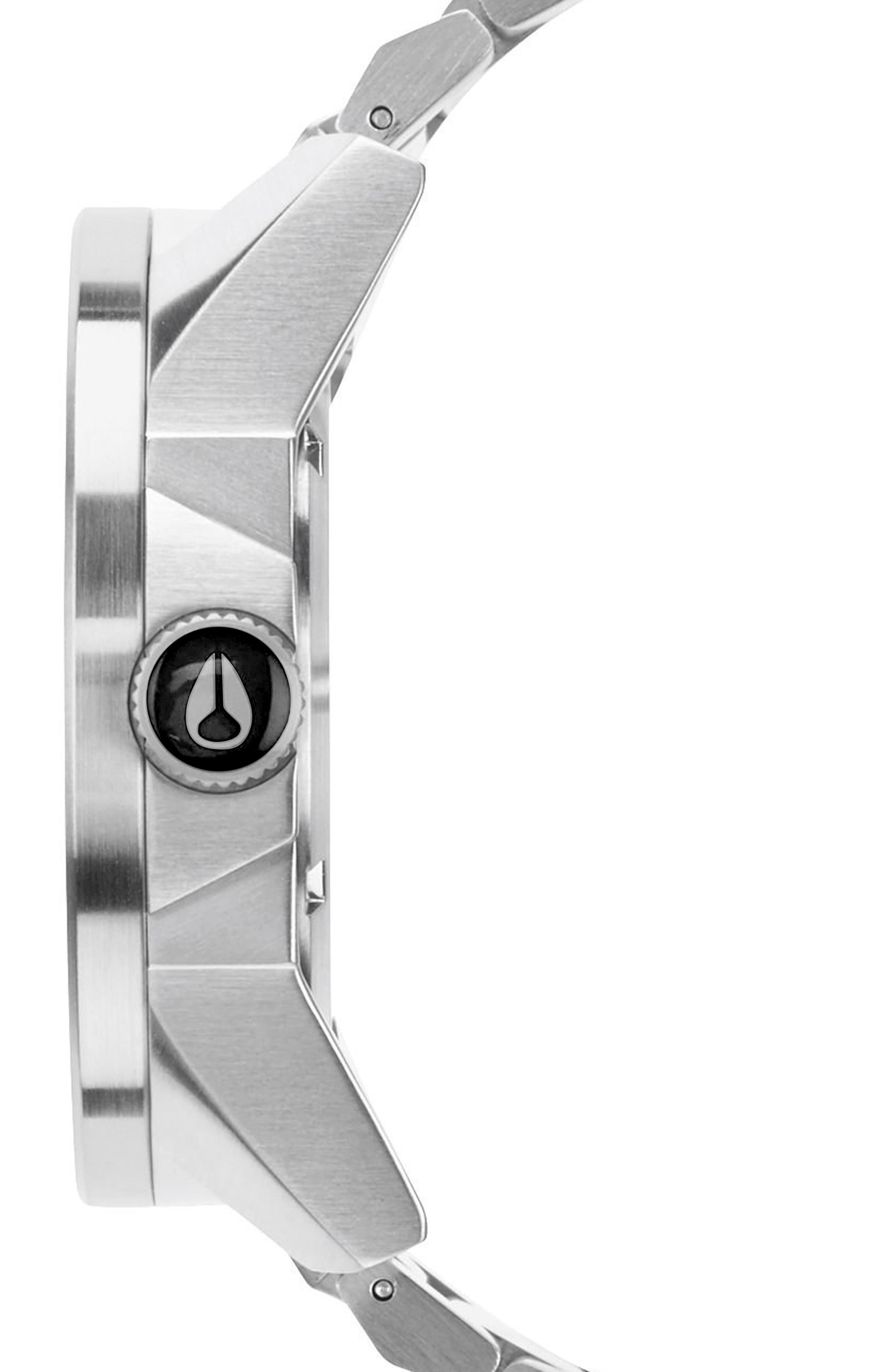 Corporal Bracelet Watch, 48mm,                             Alternate thumbnail 3, color,                             Silver/ Black/ Silver