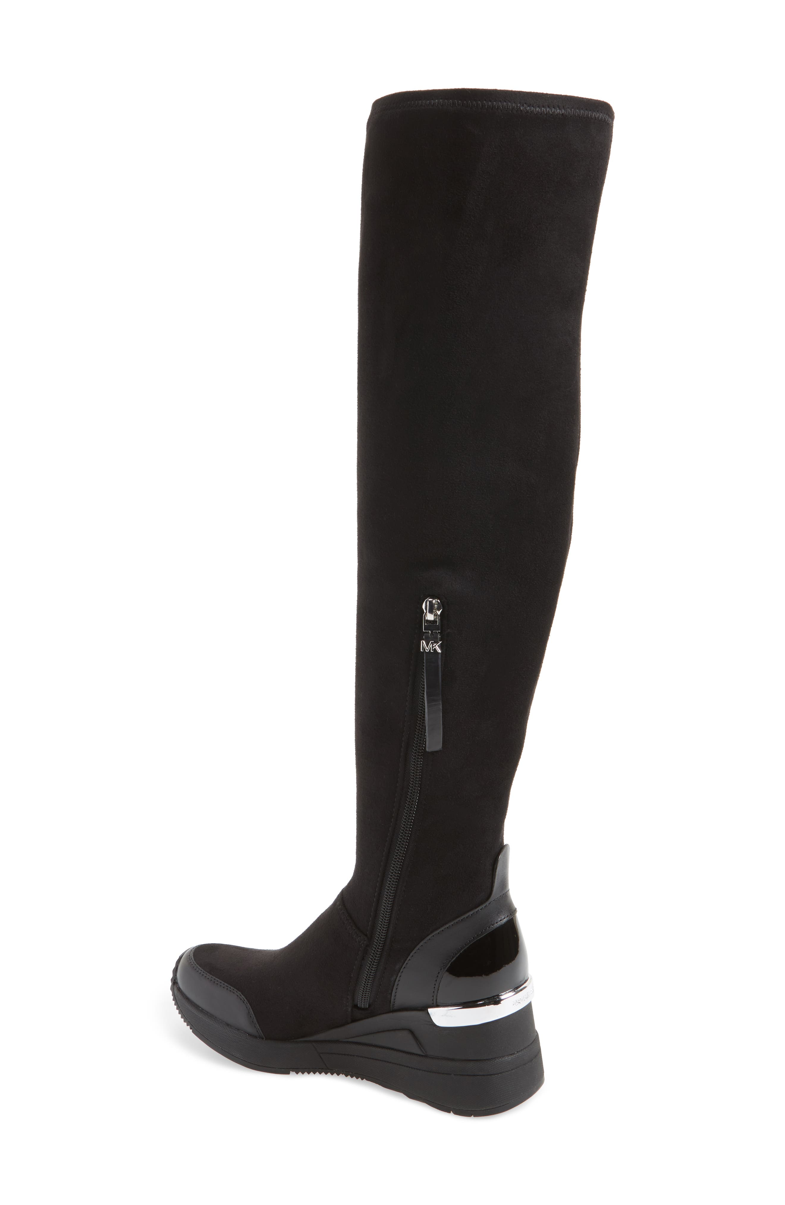 Ace Over the Knee Boot,                             Alternate thumbnail 2, color,                             Black Suede