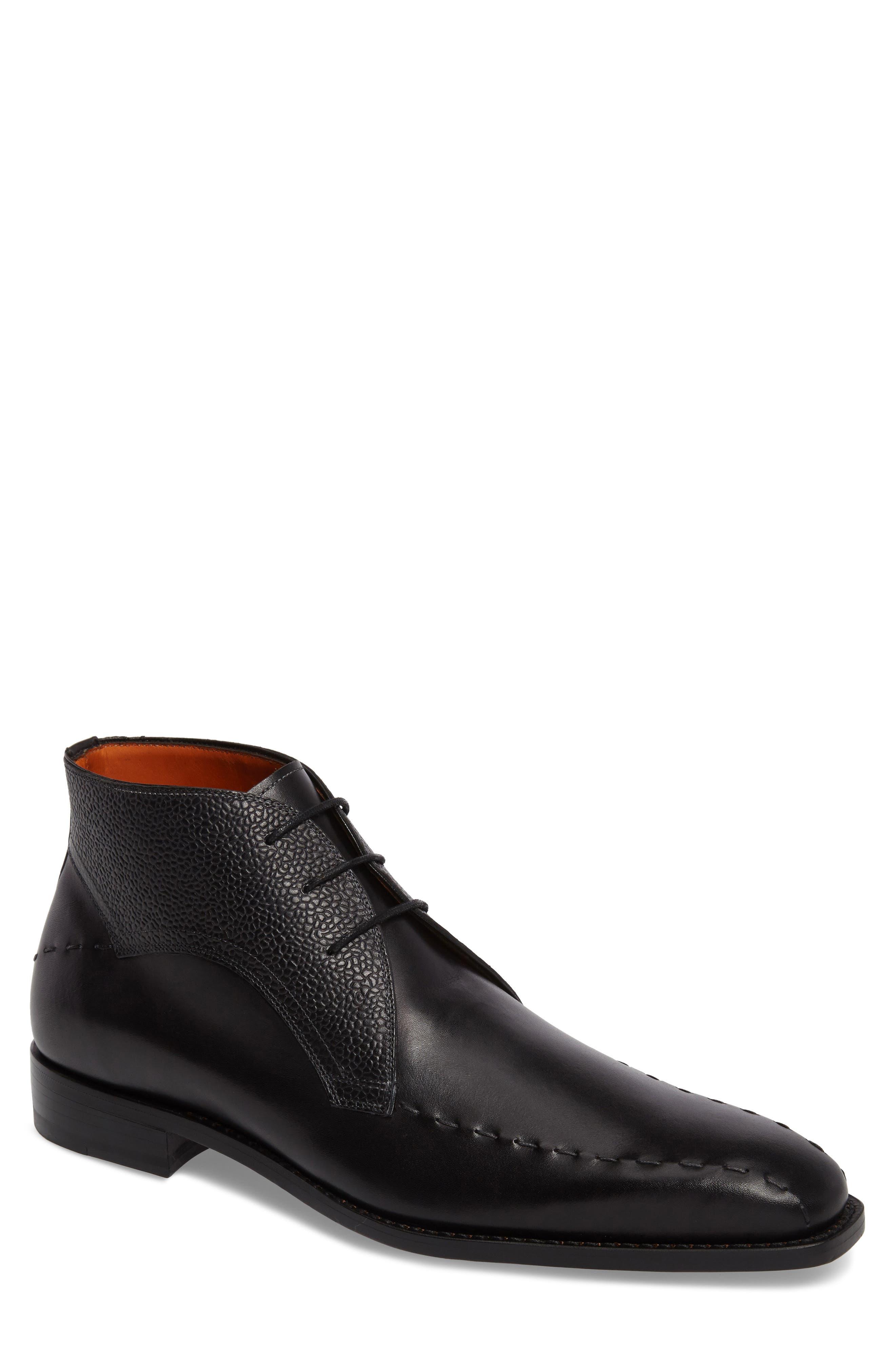 Moriles Chukka Boot,                             Main thumbnail 1, color,                             Black Leather