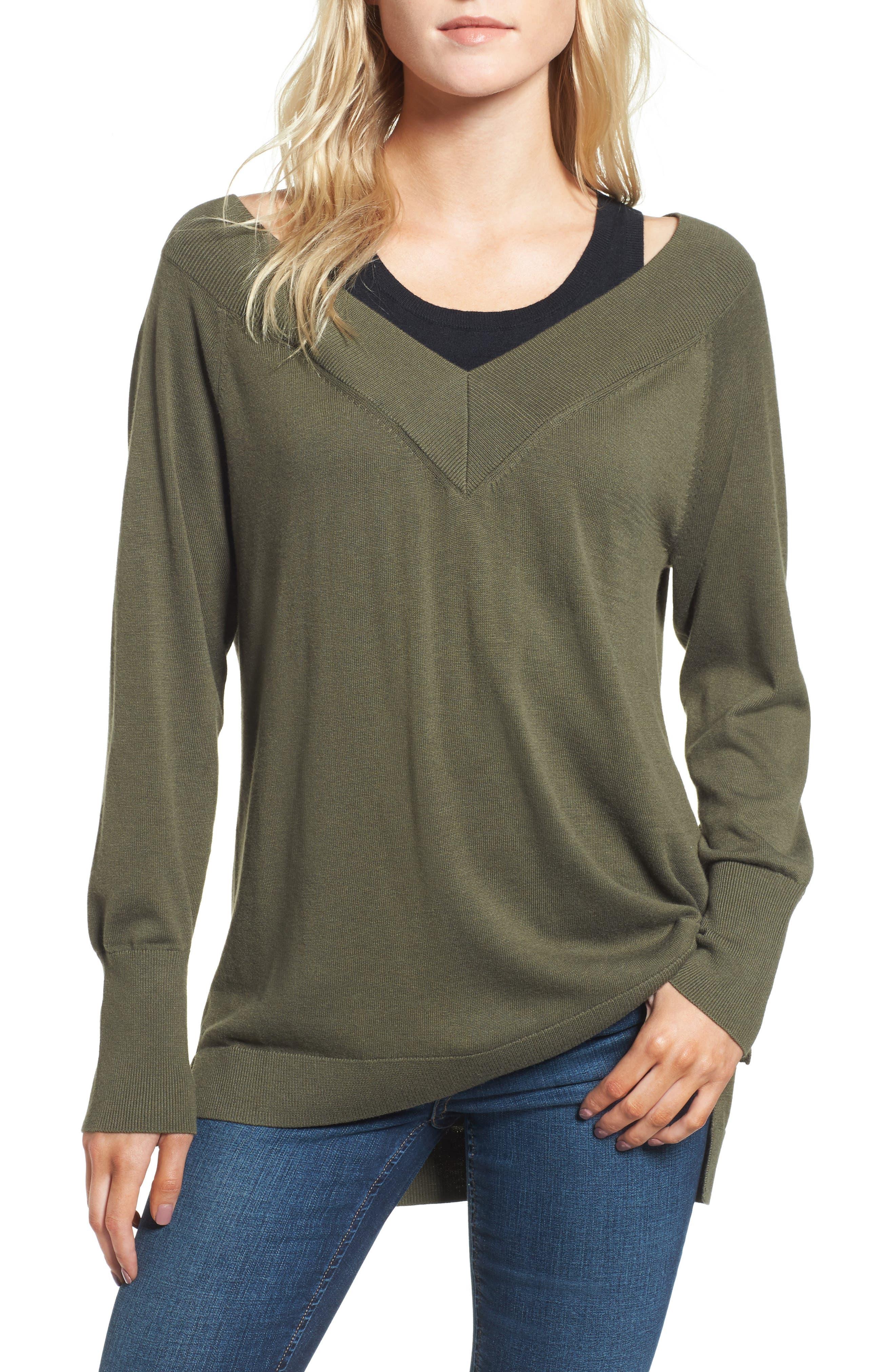 Trouvé Spliced Tank Sweater