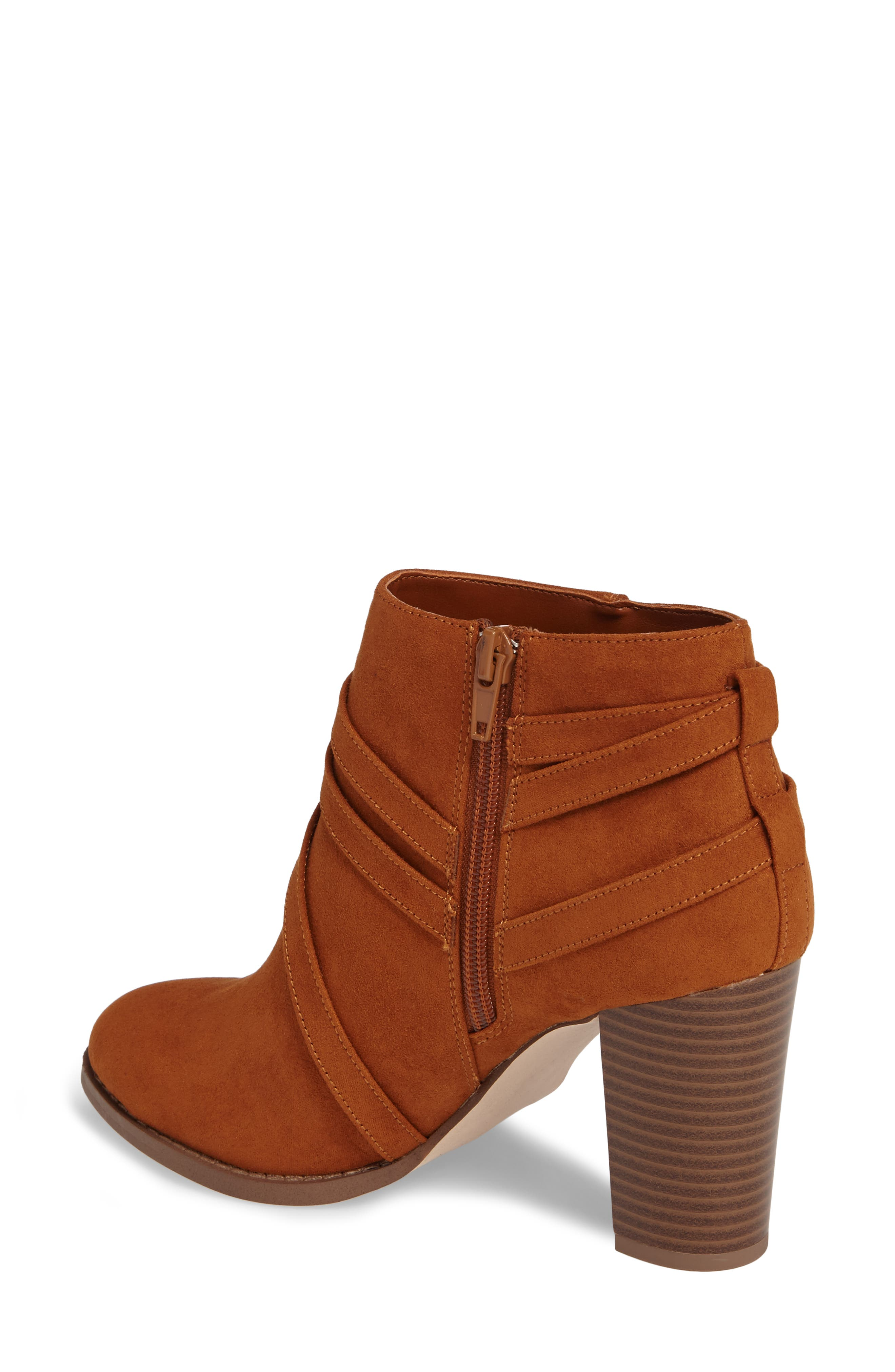 Renly Bootie,                             Alternate thumbnail 2, color,                             Tan Suede