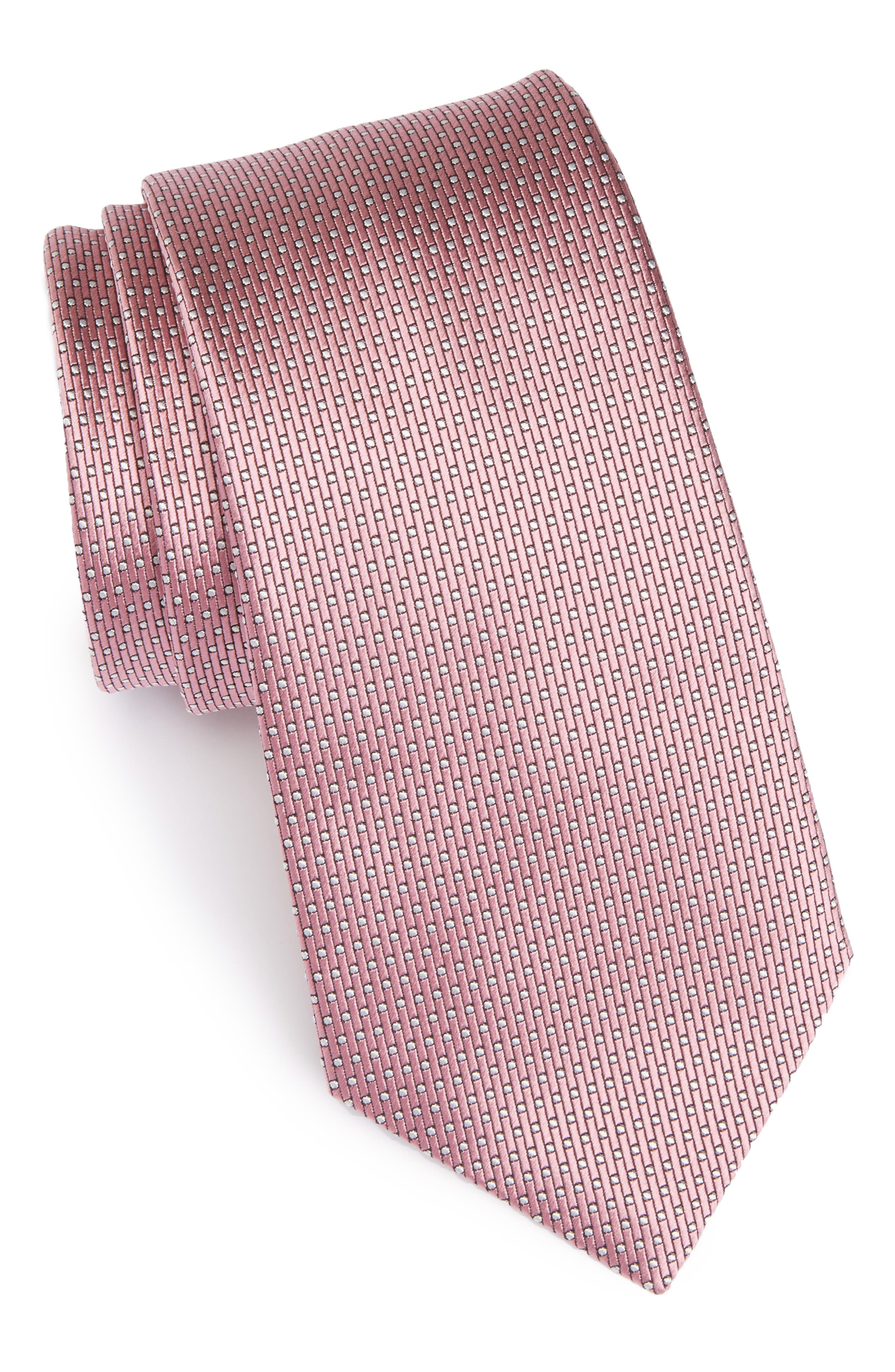 Alternate Image 1 Selected - Ermenegildo Zegna Dot Silk Tie