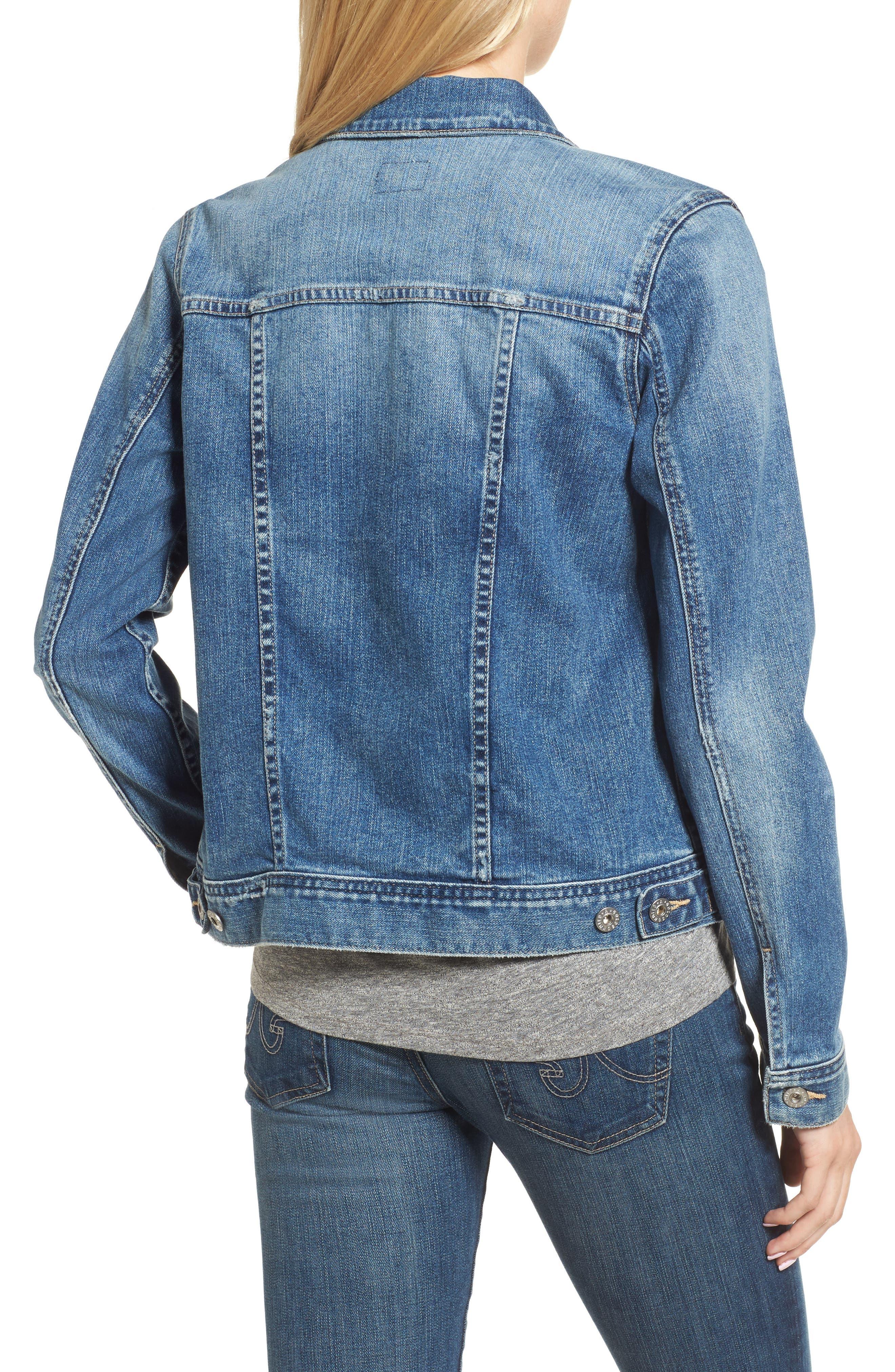 'Mya' Denim Jacket,                             Alternate thumbnail 2, color,                             10 Years Magnetic Blue