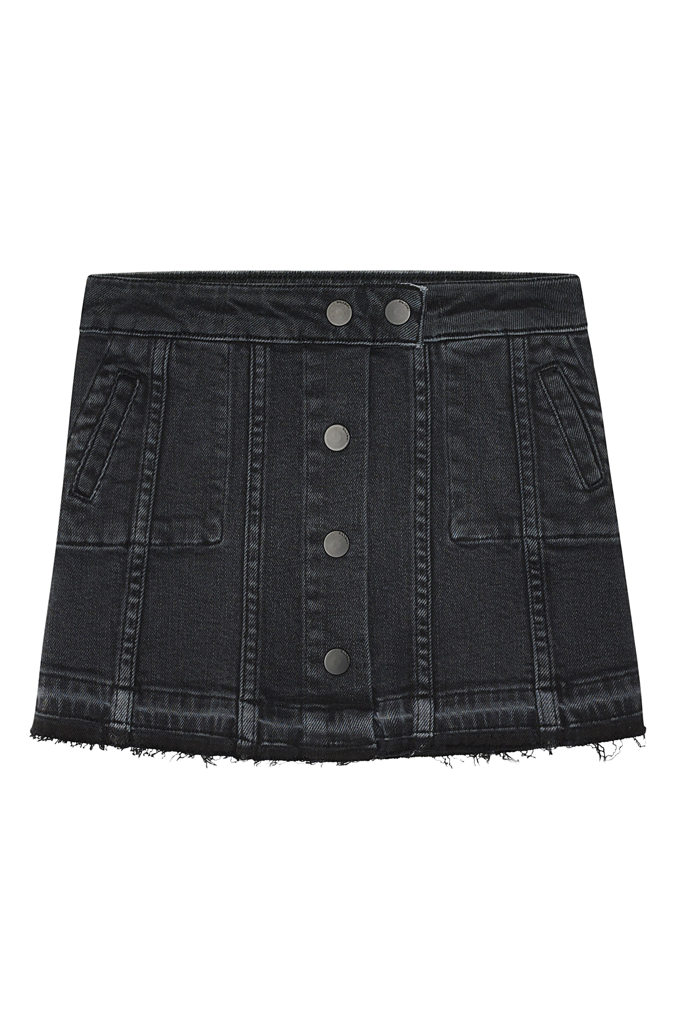 Jenny Cutoff Denim Skirt,                             Main thumbnail 1, color,                             Lightning