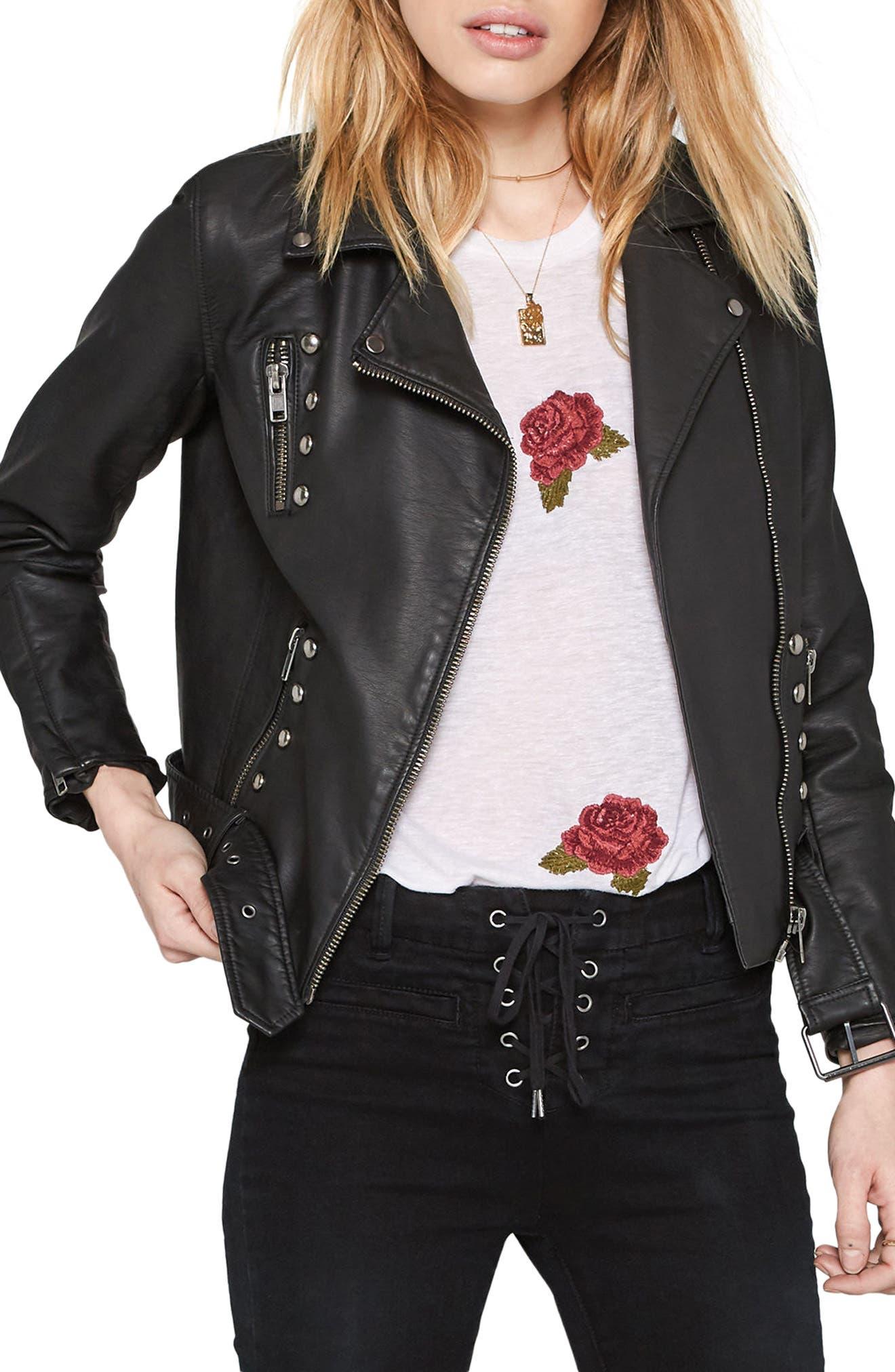 Amuse Society Blackhawk Faux Leather Jacket