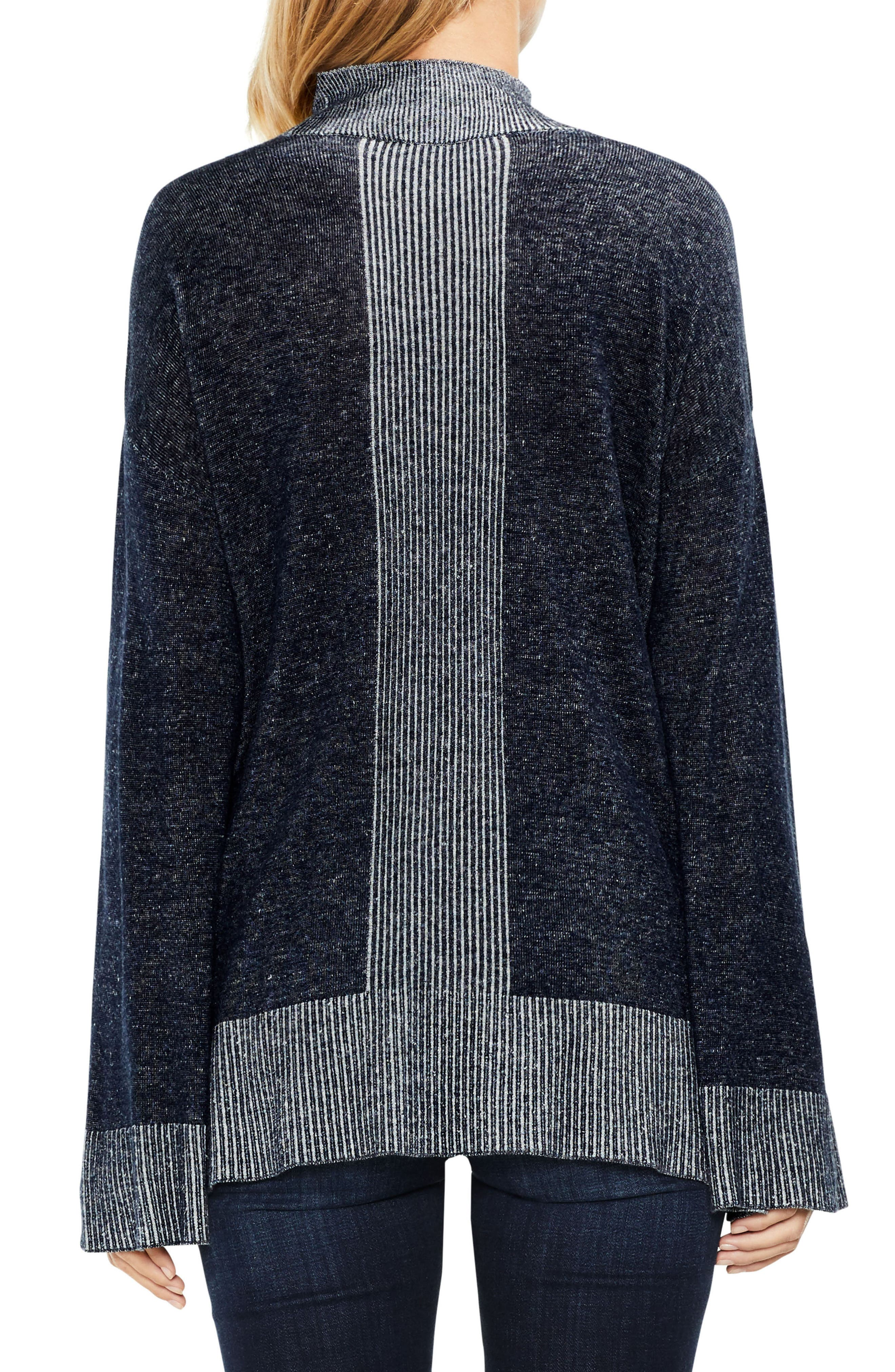 Alternate Image 3  - Two by Vince Camuto Ribbed Contrast Sweater