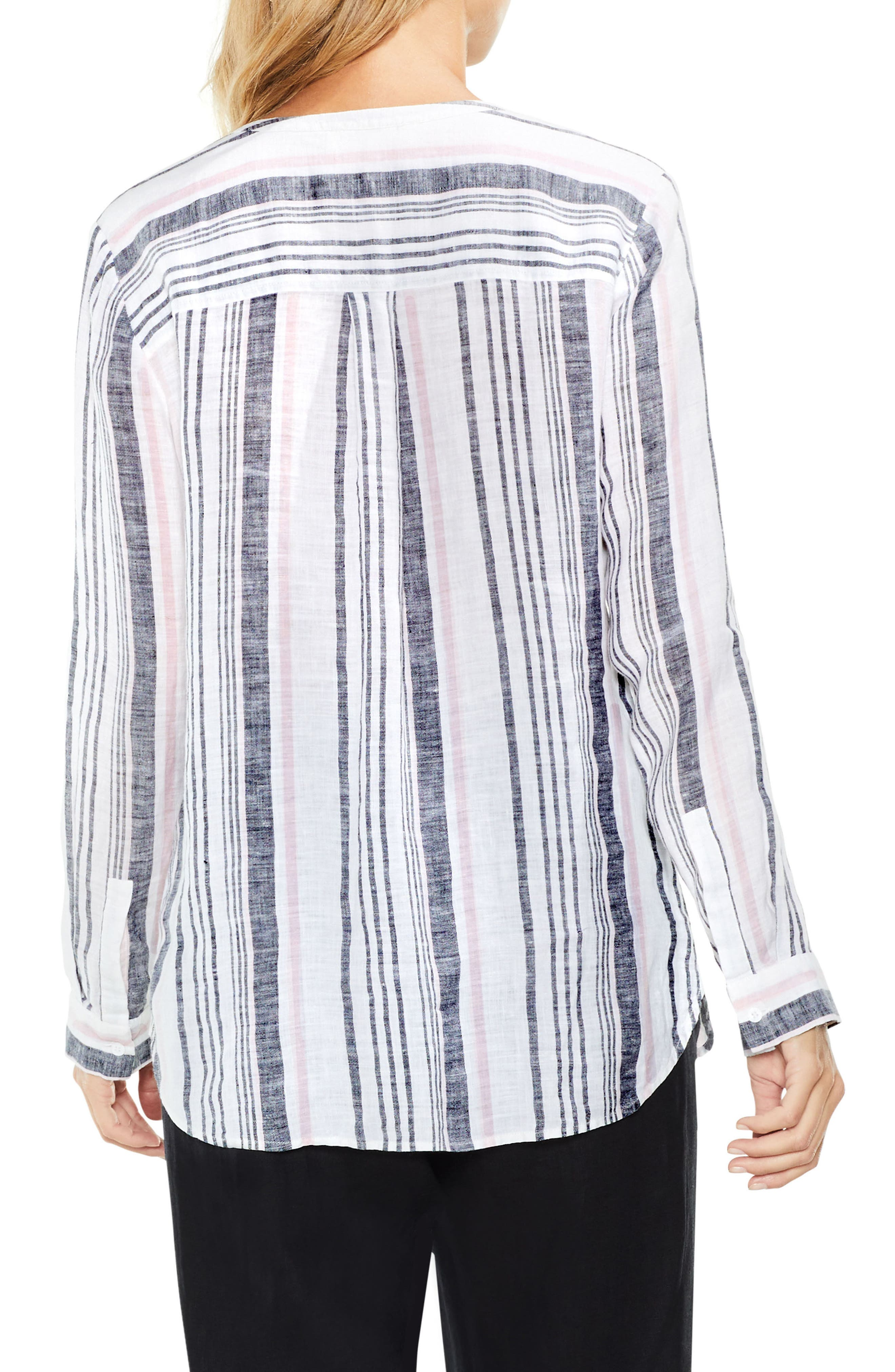 Alternate Image 3  - Two by Vince Camuto Variegated Step Stripe Top