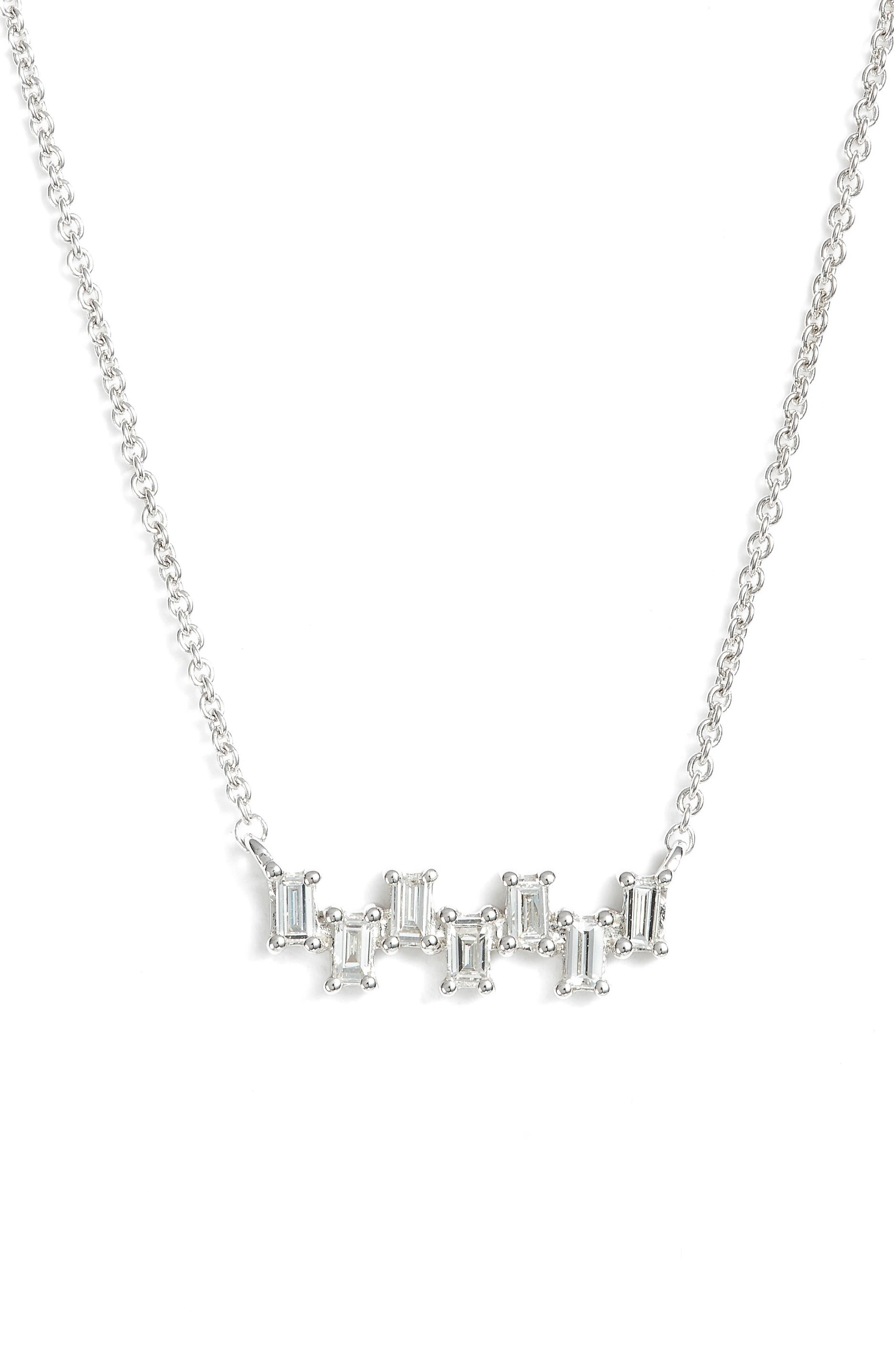 Dana Rebecca Designs Sadie Diamond Bar Pendant Necklace