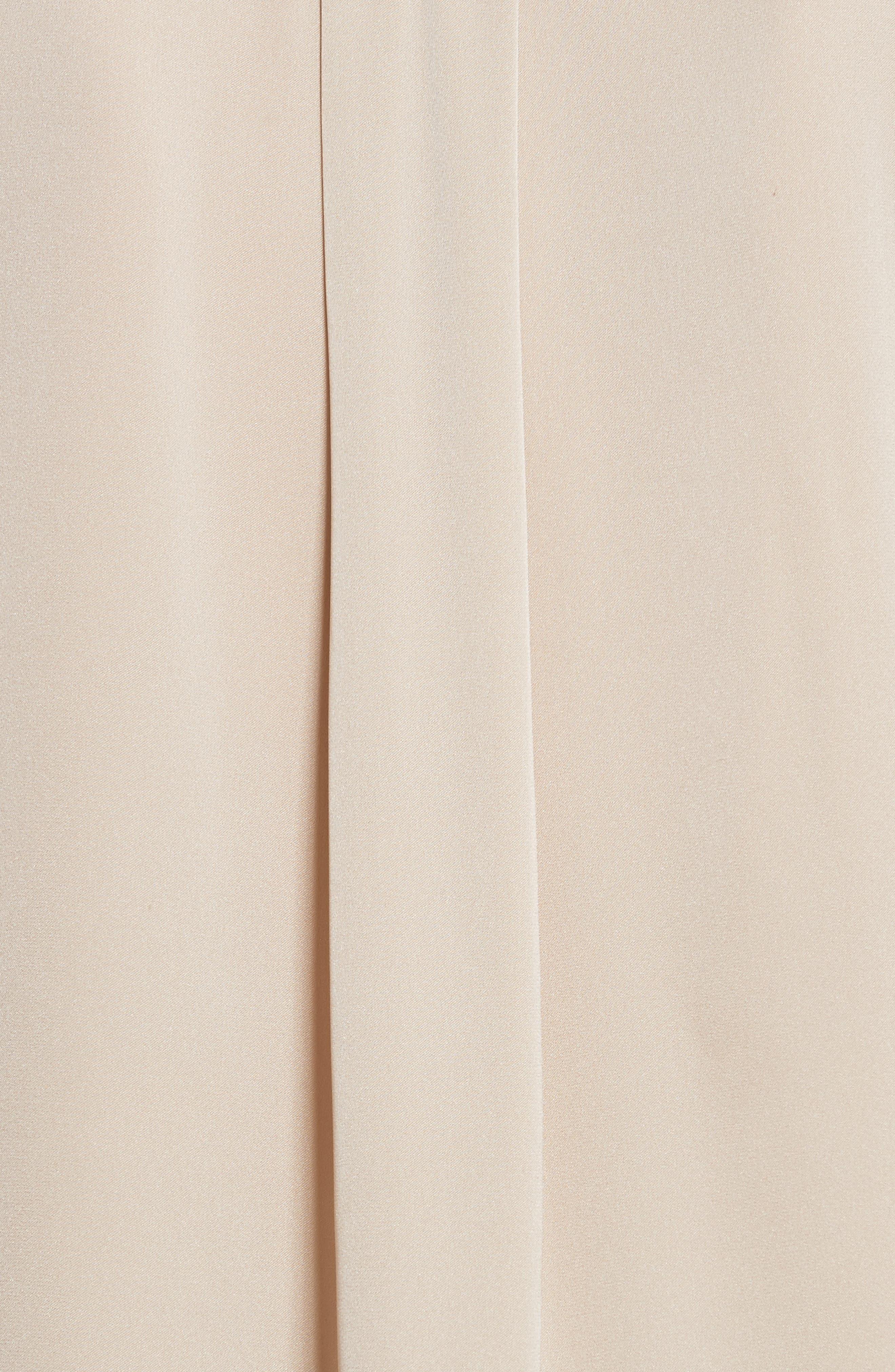 Trapunto Stretch Silk Blouse,                             Alternate thumbnail 5, color,                             Mist