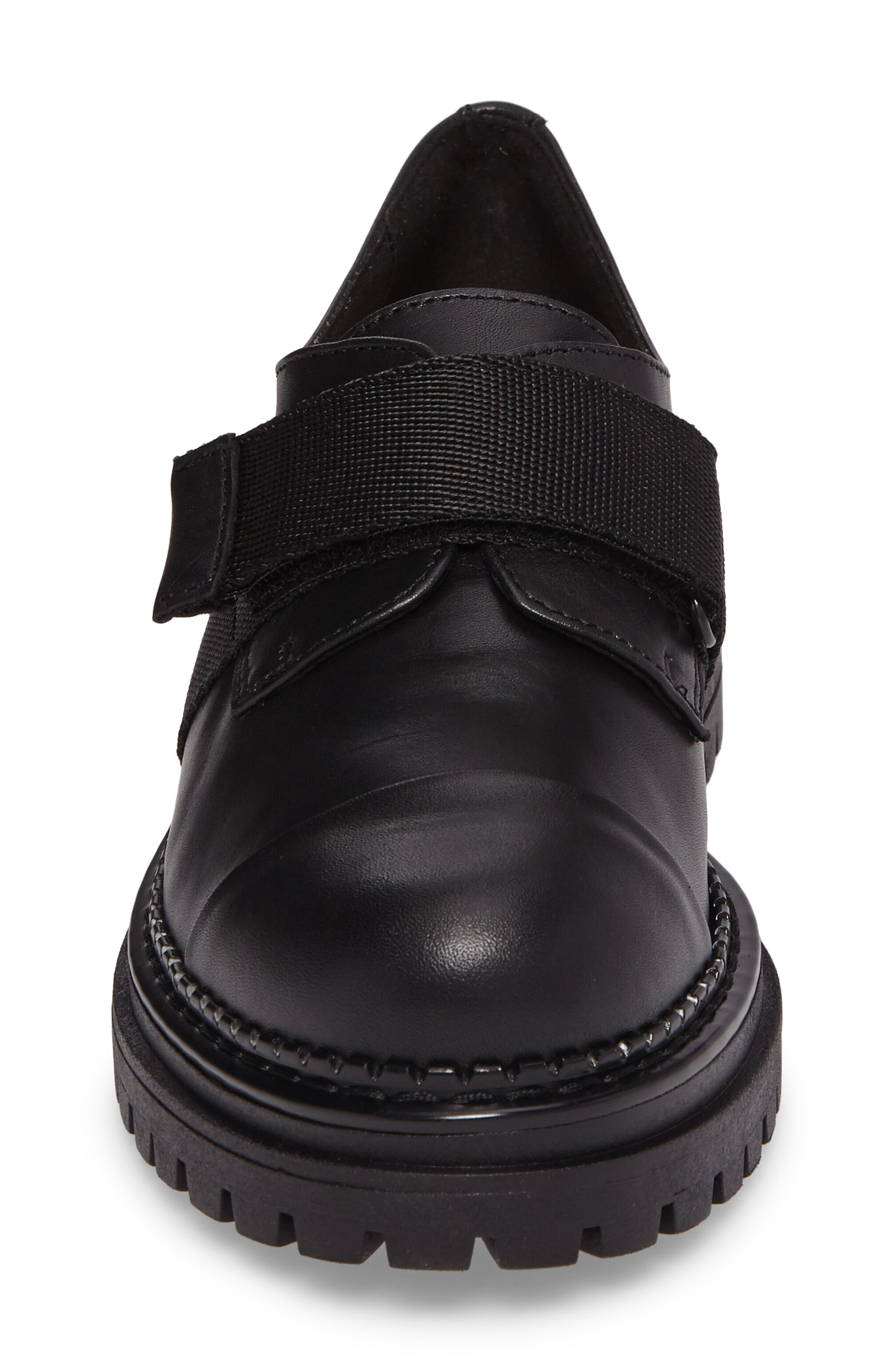 Keeper Lug Sole Loafer,                             Alternate thumbnail 4, color,                             Black