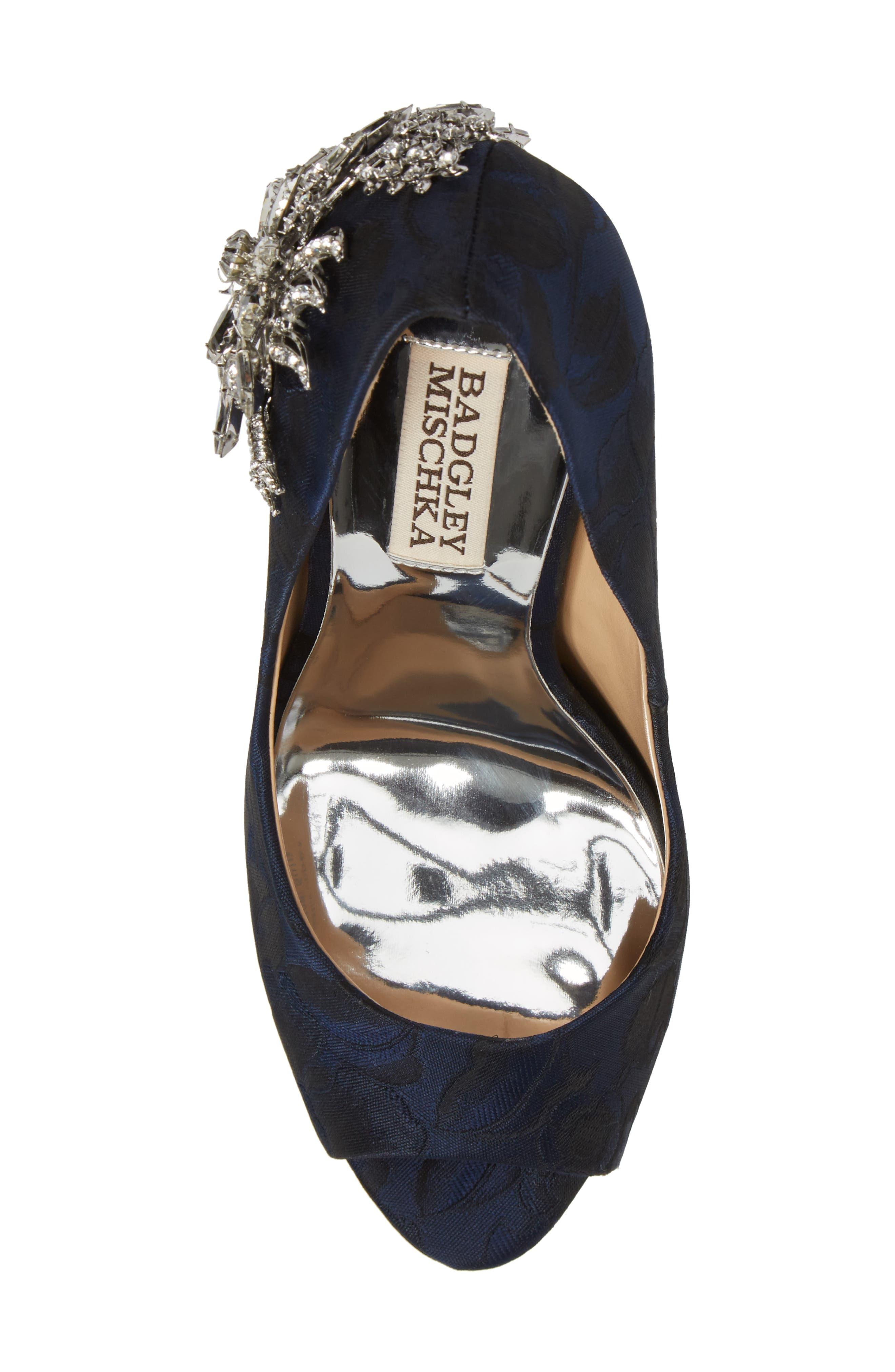 Alternate Image 5  - Badgley Mischka Marcia Embellished Peep Toe Pump (Women)
