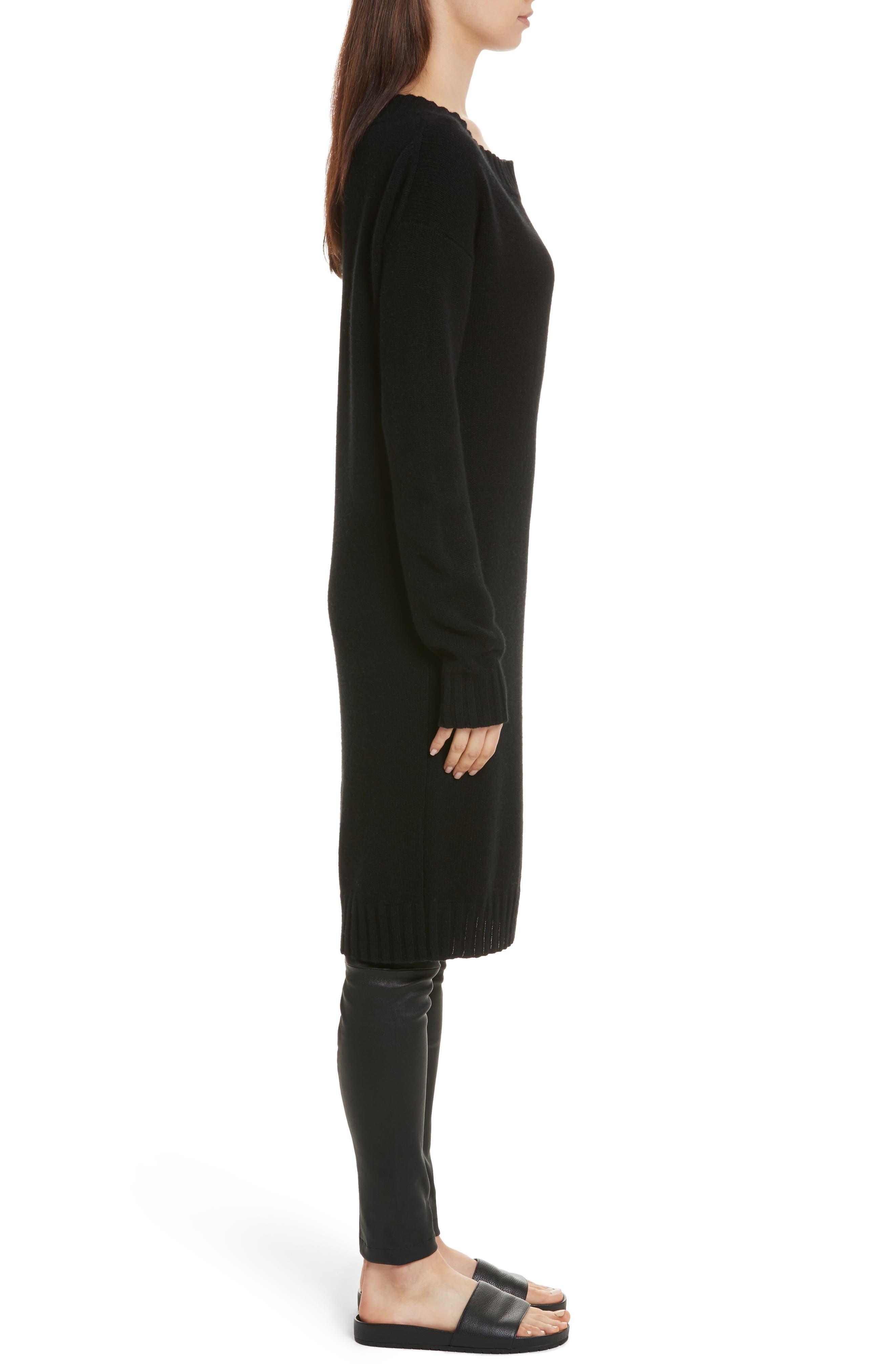 Alternate Image 3  - Vince Off the Shoulder Wool & Cashmere Sweater Dress