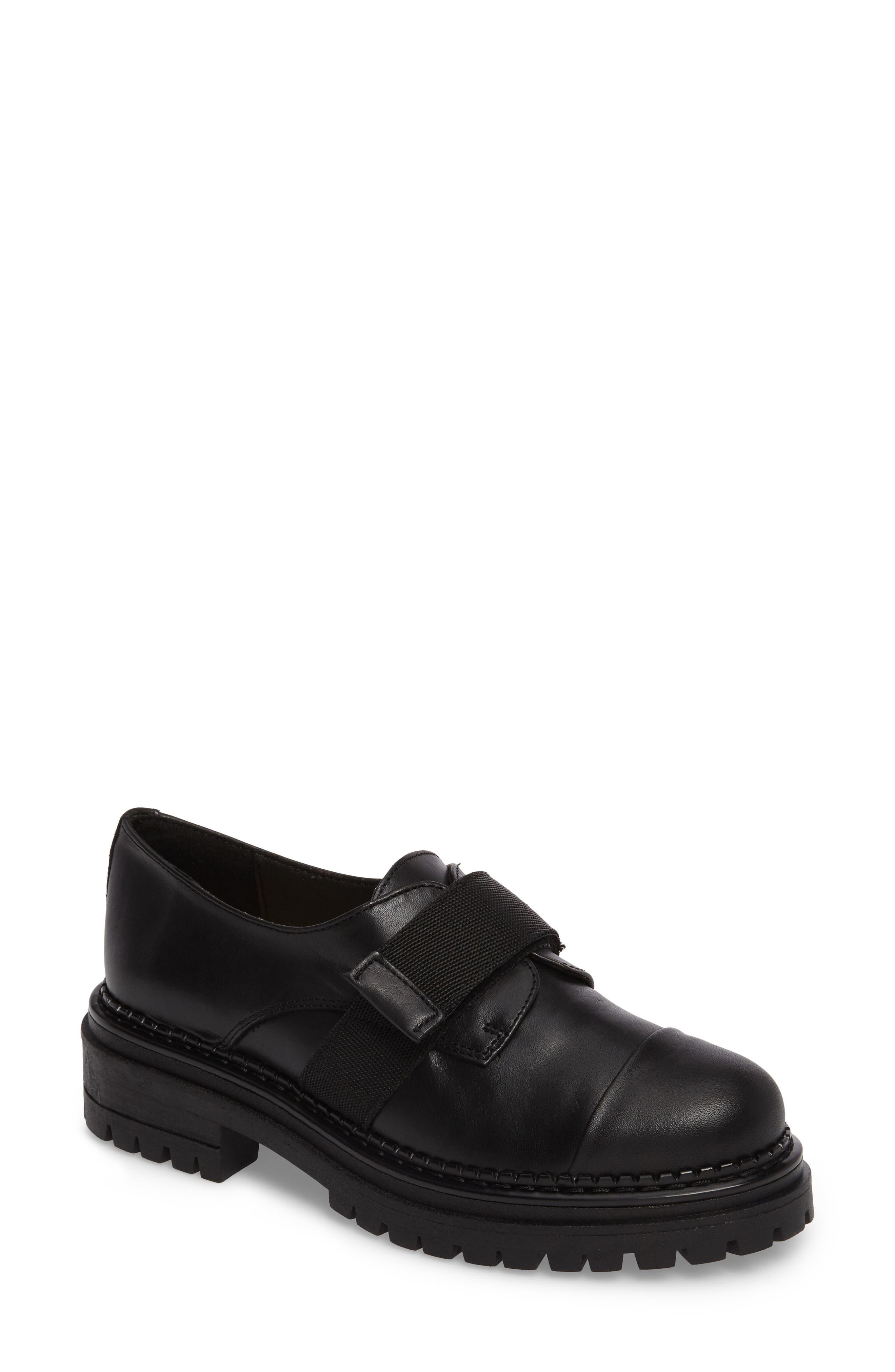 Keeper Lug Sole Loafer,                             Main thumbnail 1, color,                             Black