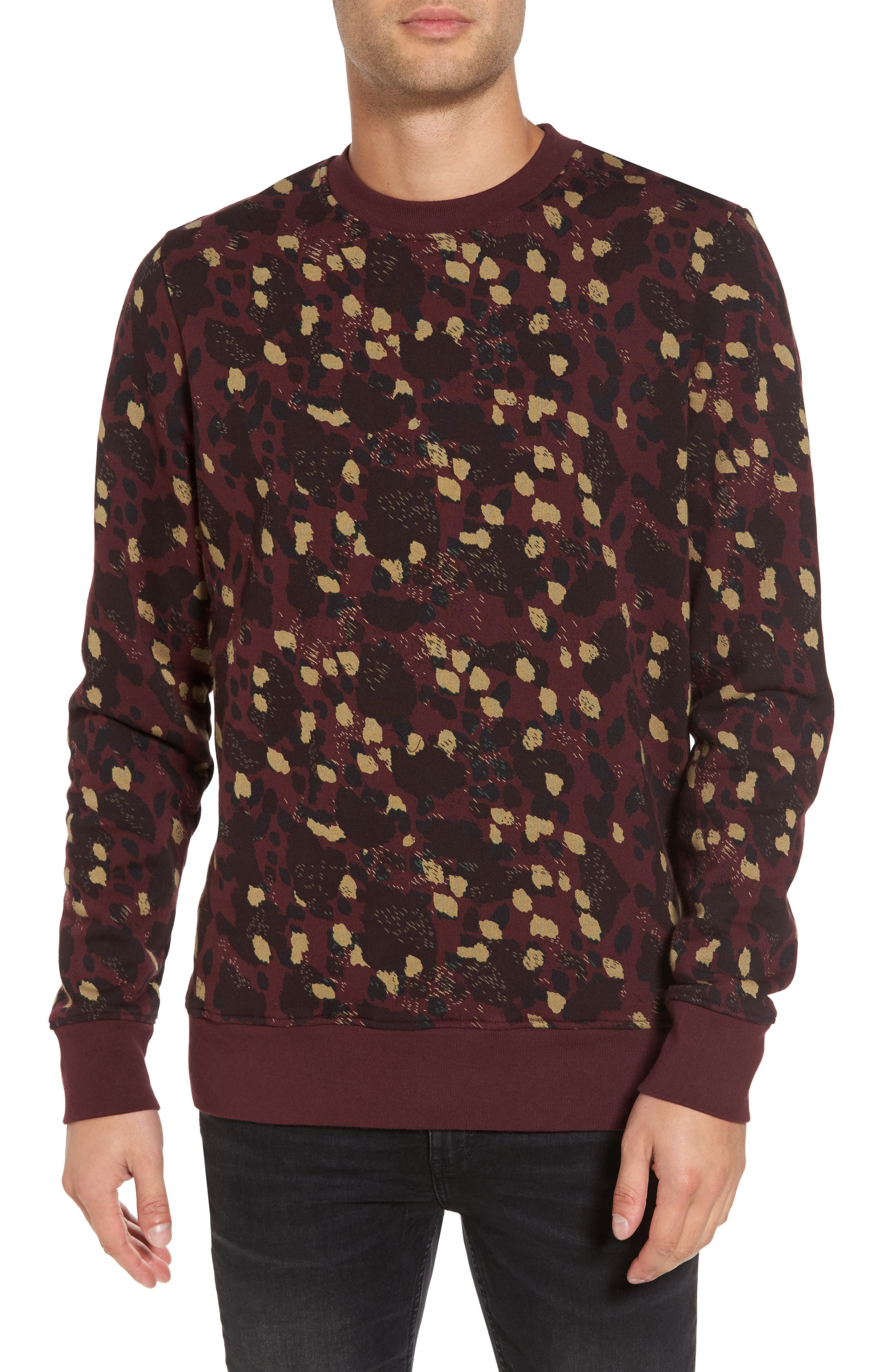 WeSC Jima Animal Print Sweatshirt