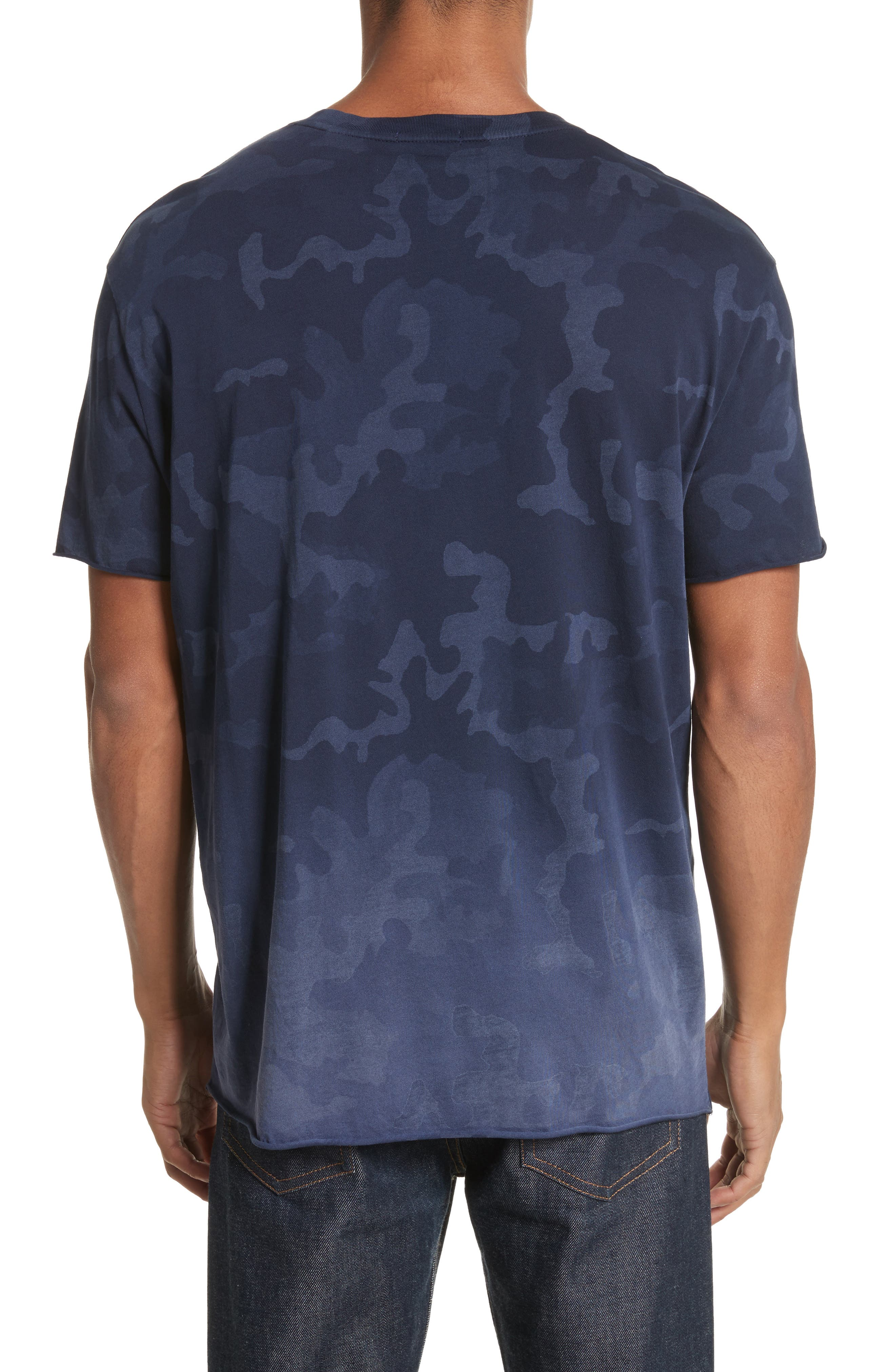 Camo Print Crewneck T-Shirt,                             Alternate thumbnail 2, color,                             Blue Camo