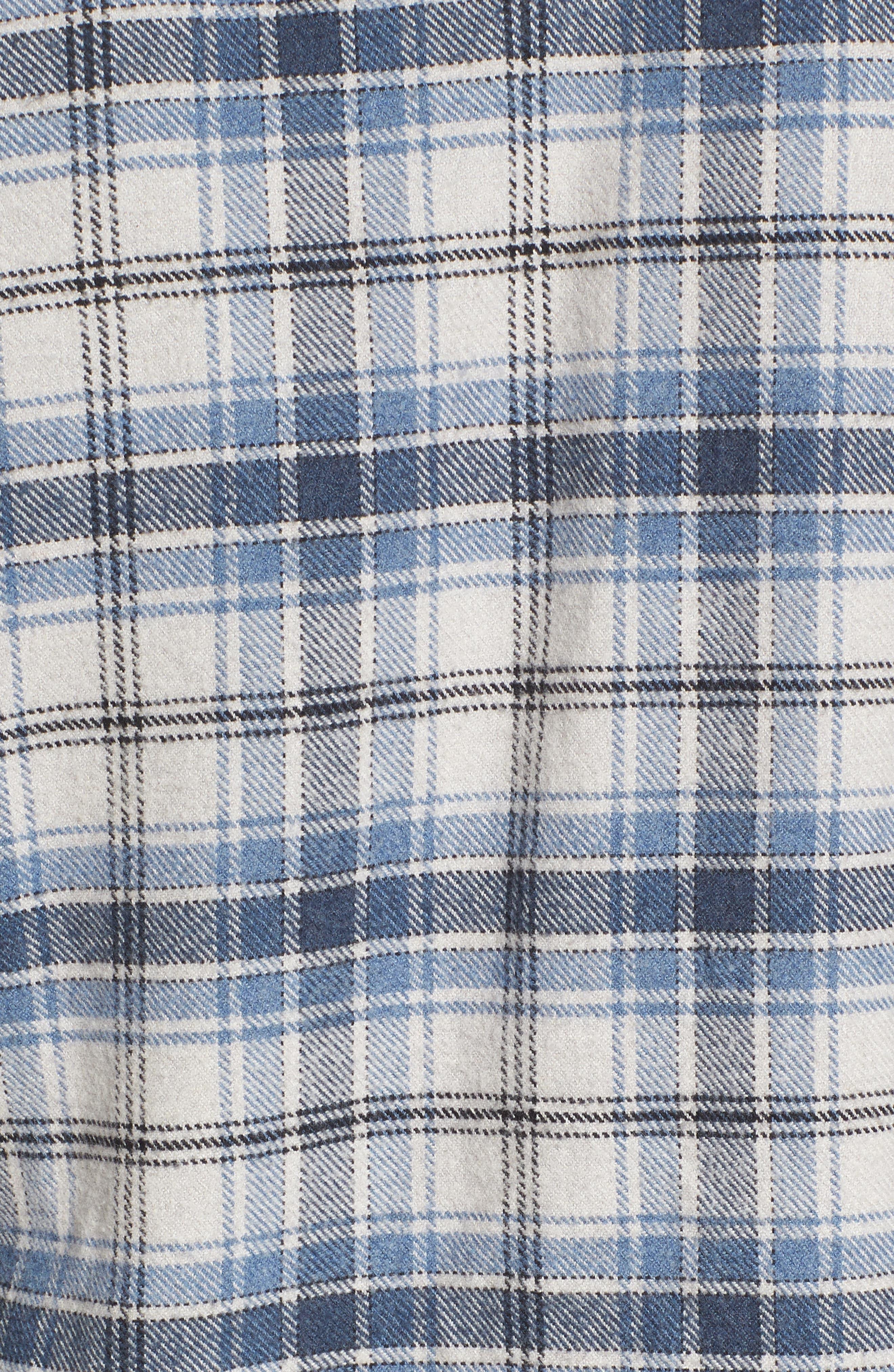 Campton Heritage Plaid Flannel Shirt,                             Alternate thumbnail 5, color,                             Blue Stone
