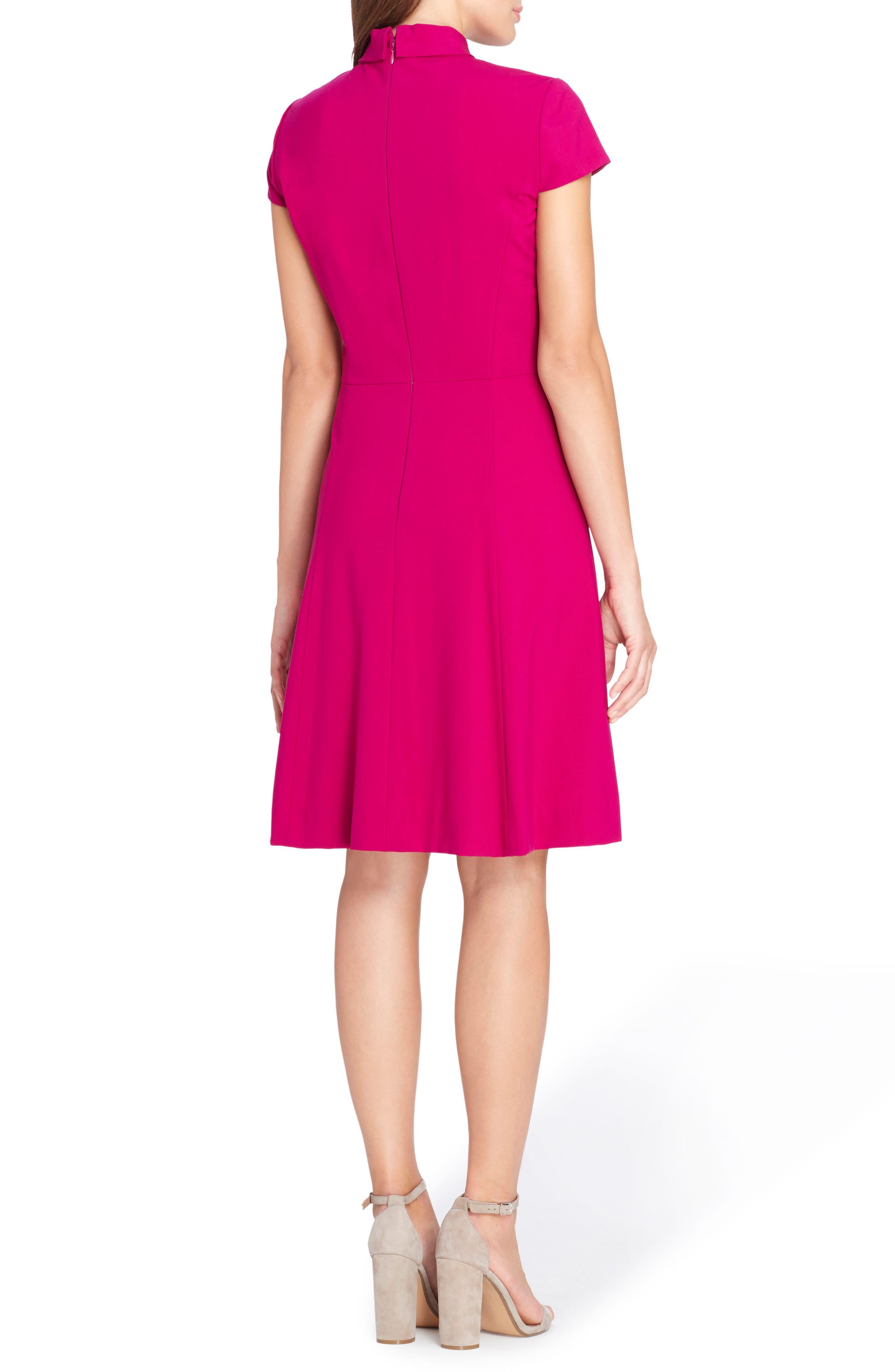 Alternate Image 2  - Tahari Choker Fit & Flare Dress (Regular & Petite)