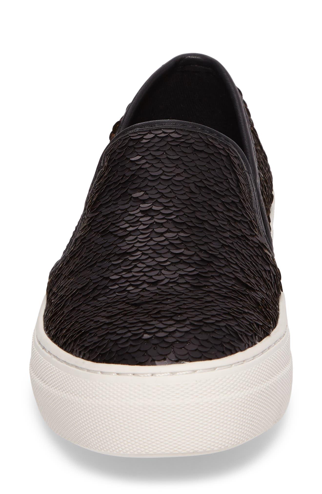 Alternate Image 4  - Steve Madden Gills Sequined Slip-On Platform Sneaker (Women)