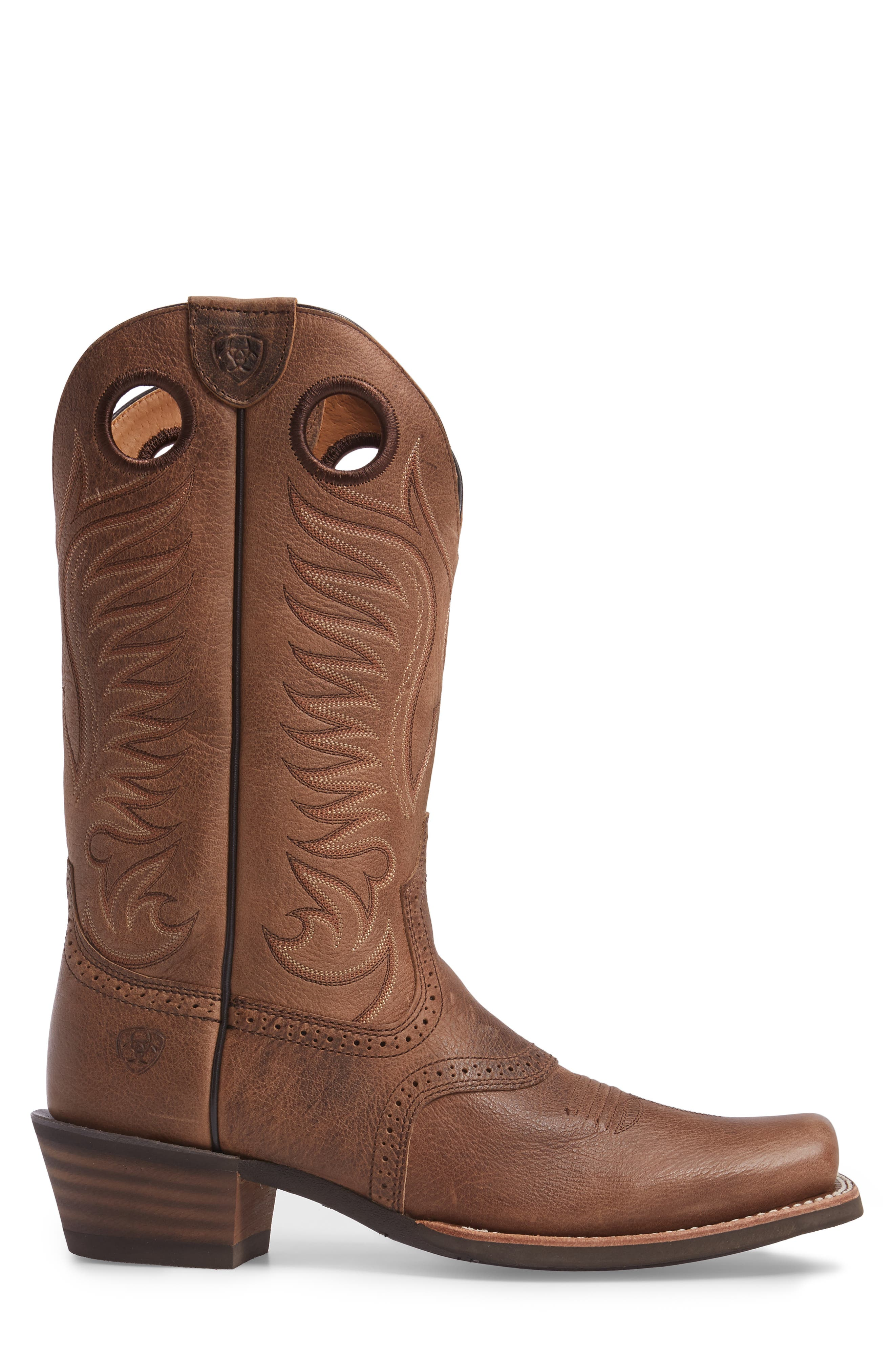 Heritage Hot Shot Cowboy Boot,                             Alternate thumbnail 3, color,                             Brown
