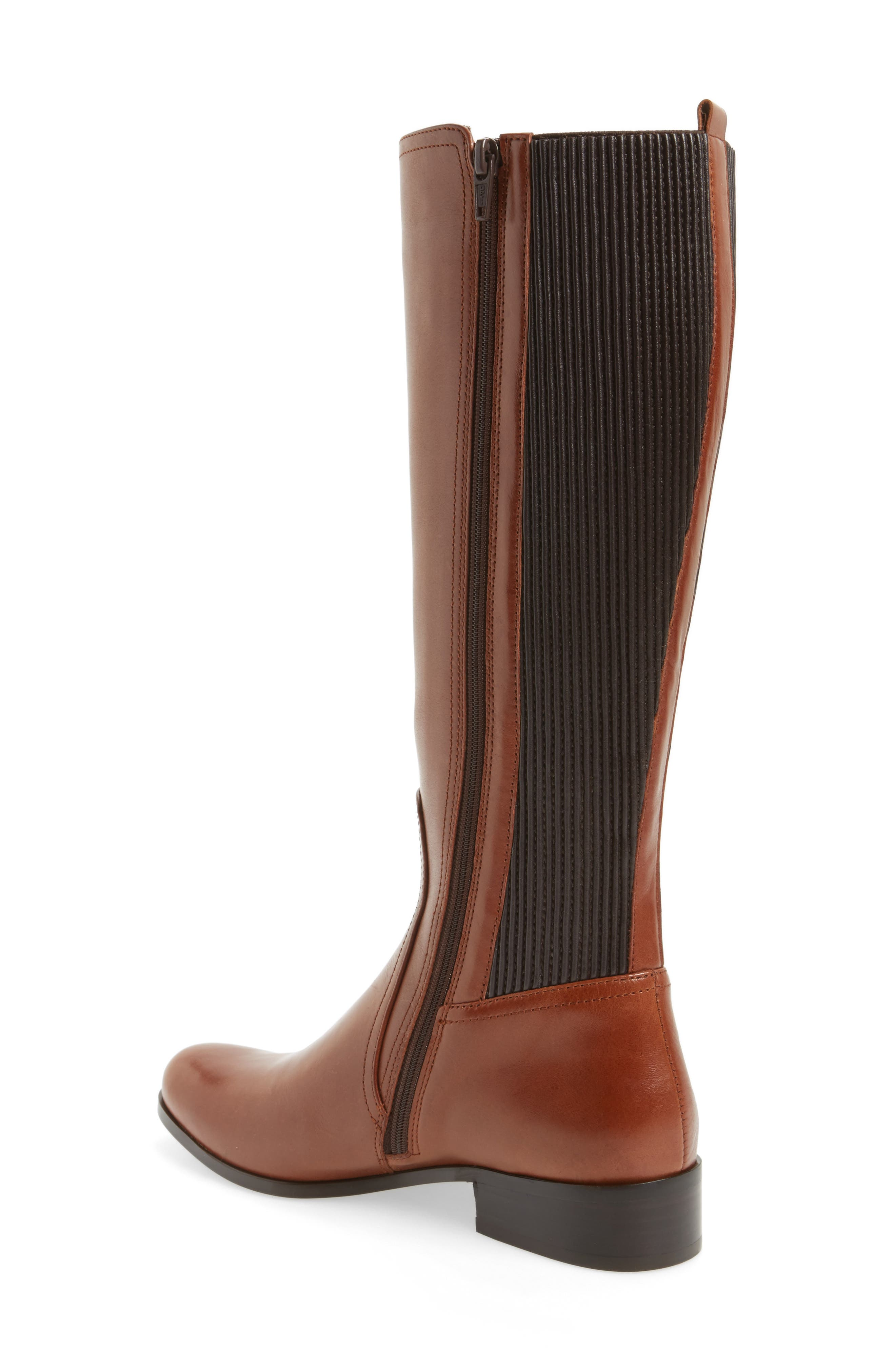 Rebel Tall Boot,                             Alternate thumbnail 2, color,                             Tan Leather