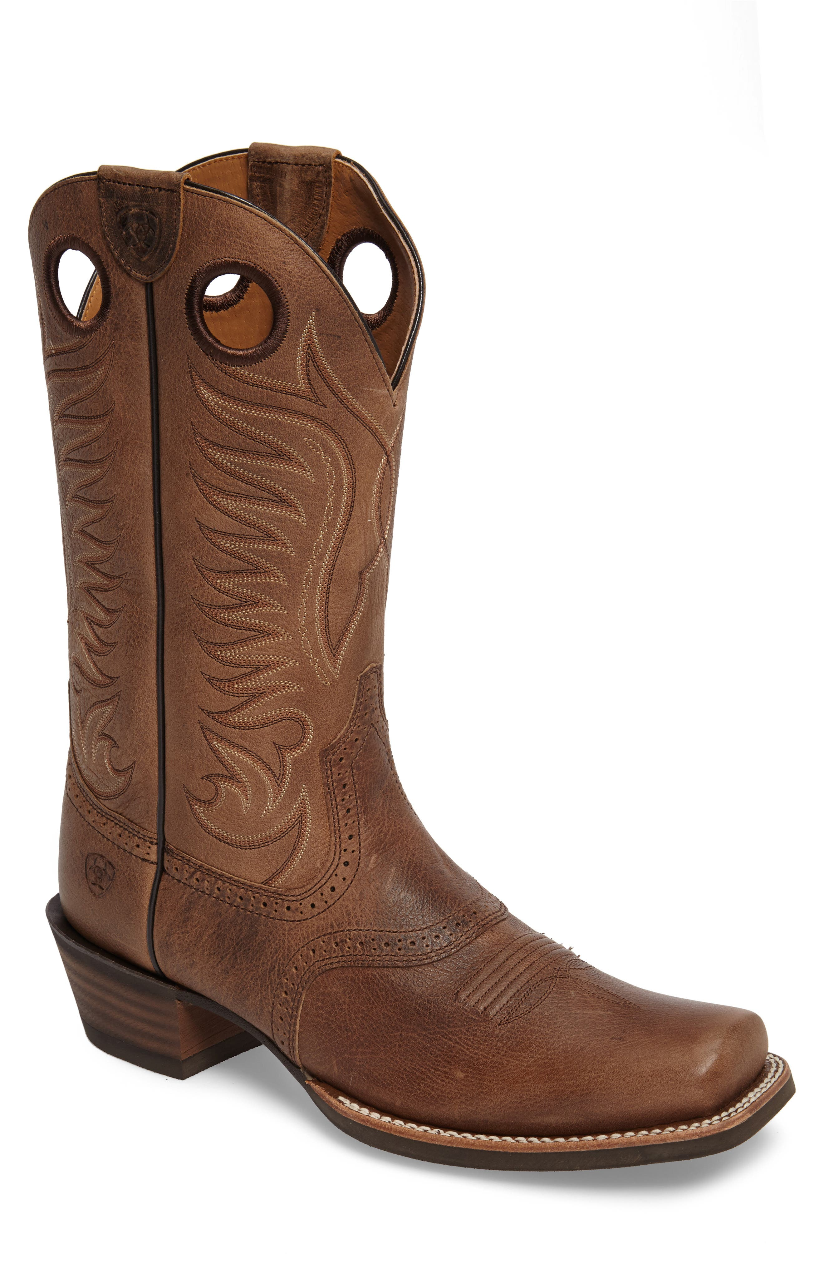 Heritage Hot Shot Cowboy Boot,                             Main thumbnail 1, color,                             Brown