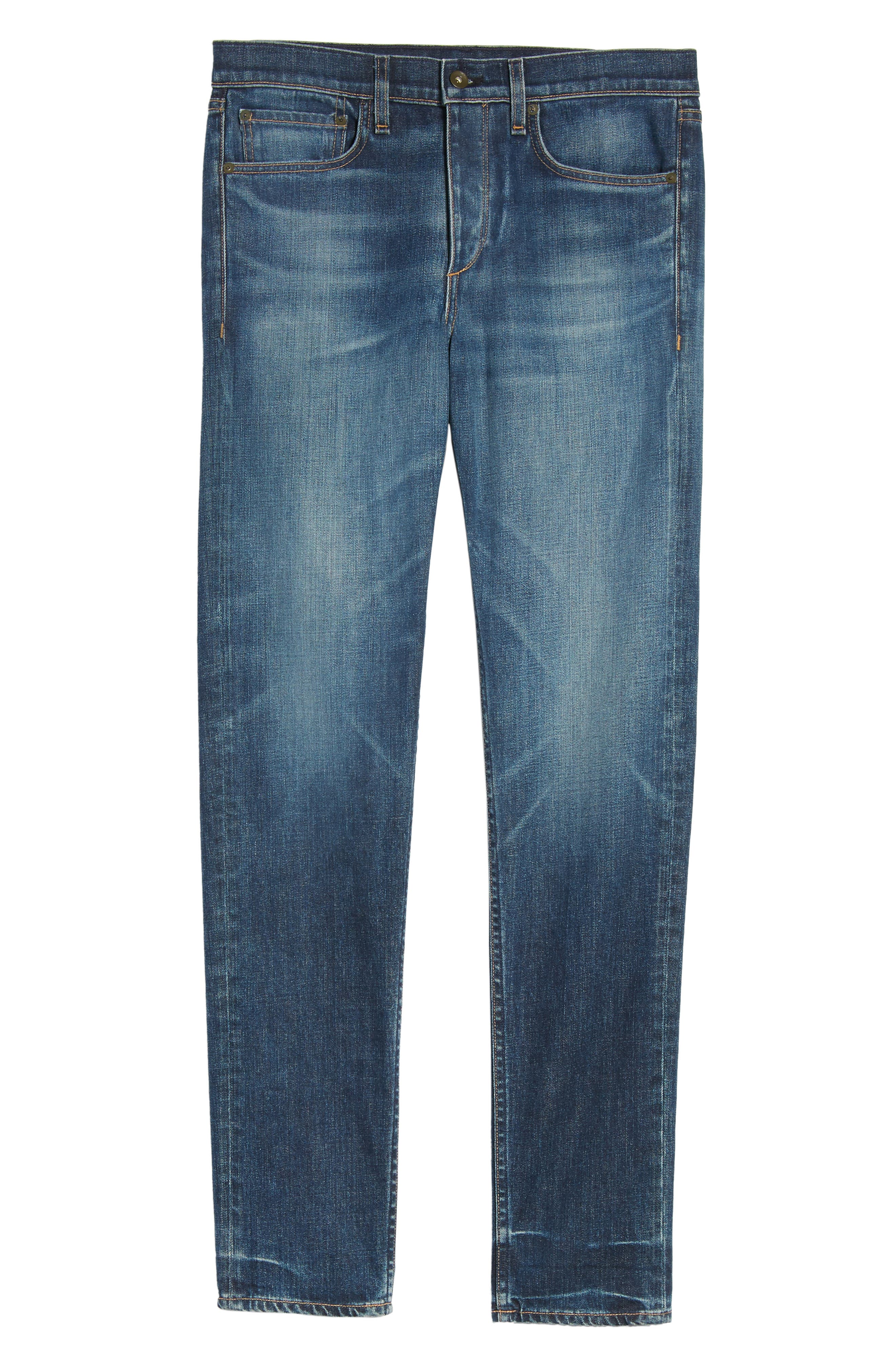 Alternate Image 6  - rag & bone Fit 2 Slim Fit Jeans (Linden)