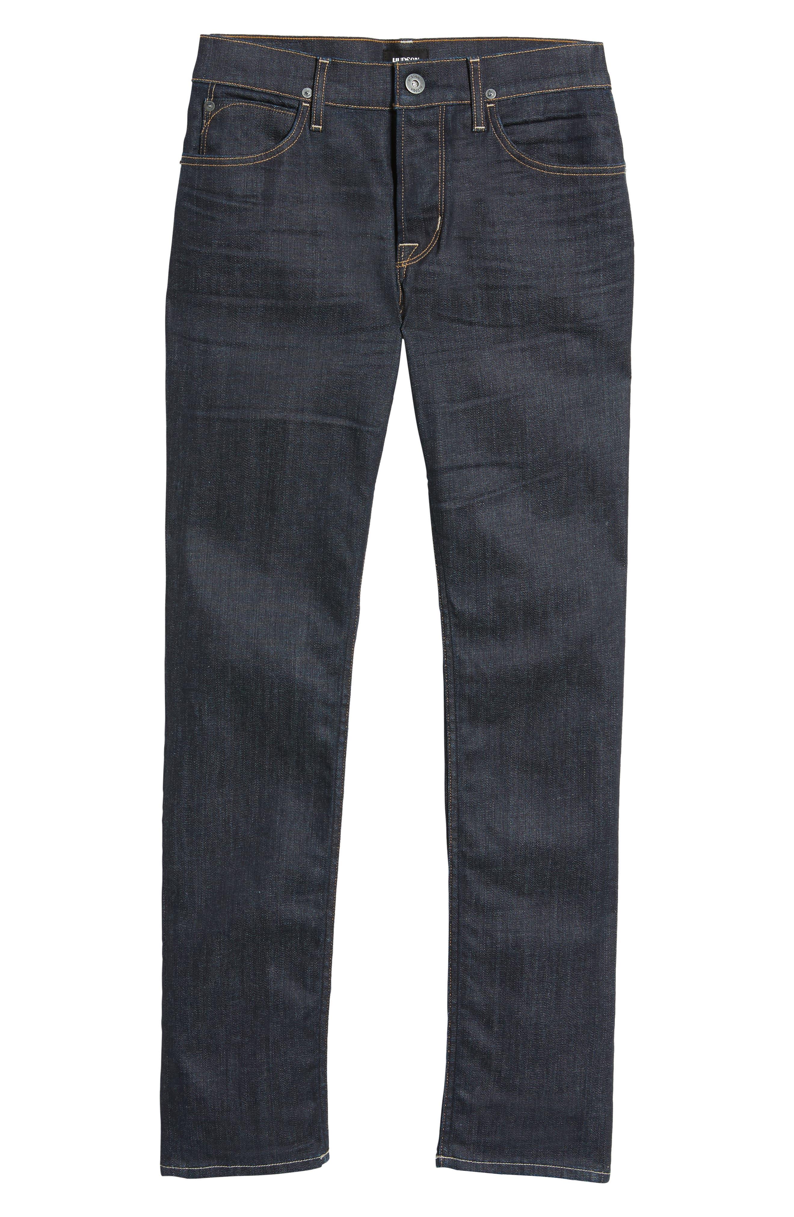 Hudson Axl Skinny Fit Jeans,                             Alternate thumbnail 6, color,                             Fiend