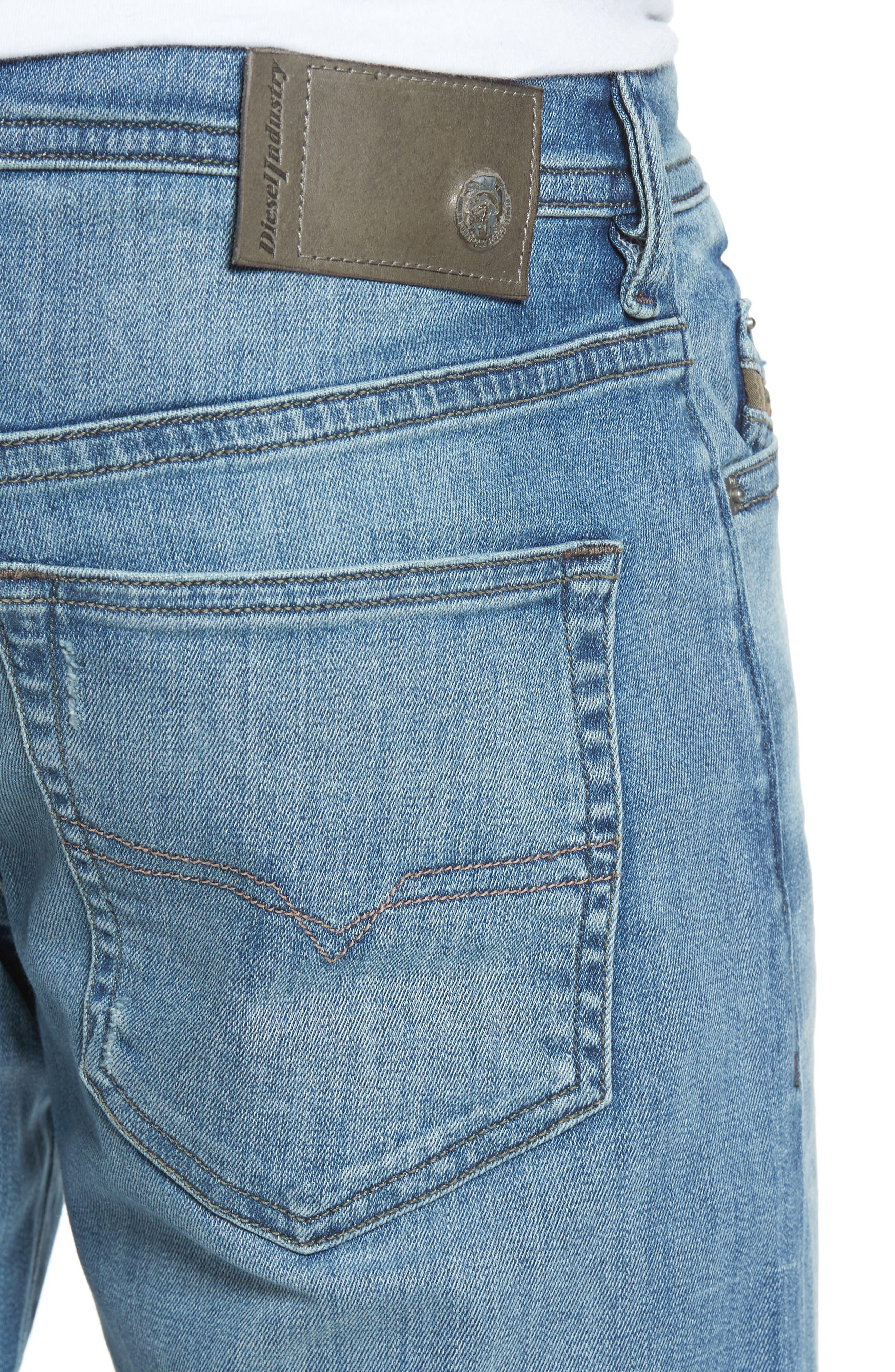 Alternate Image 4  - DIESEL® 'Buster' Slim Straight Fit Jeans (Denim)