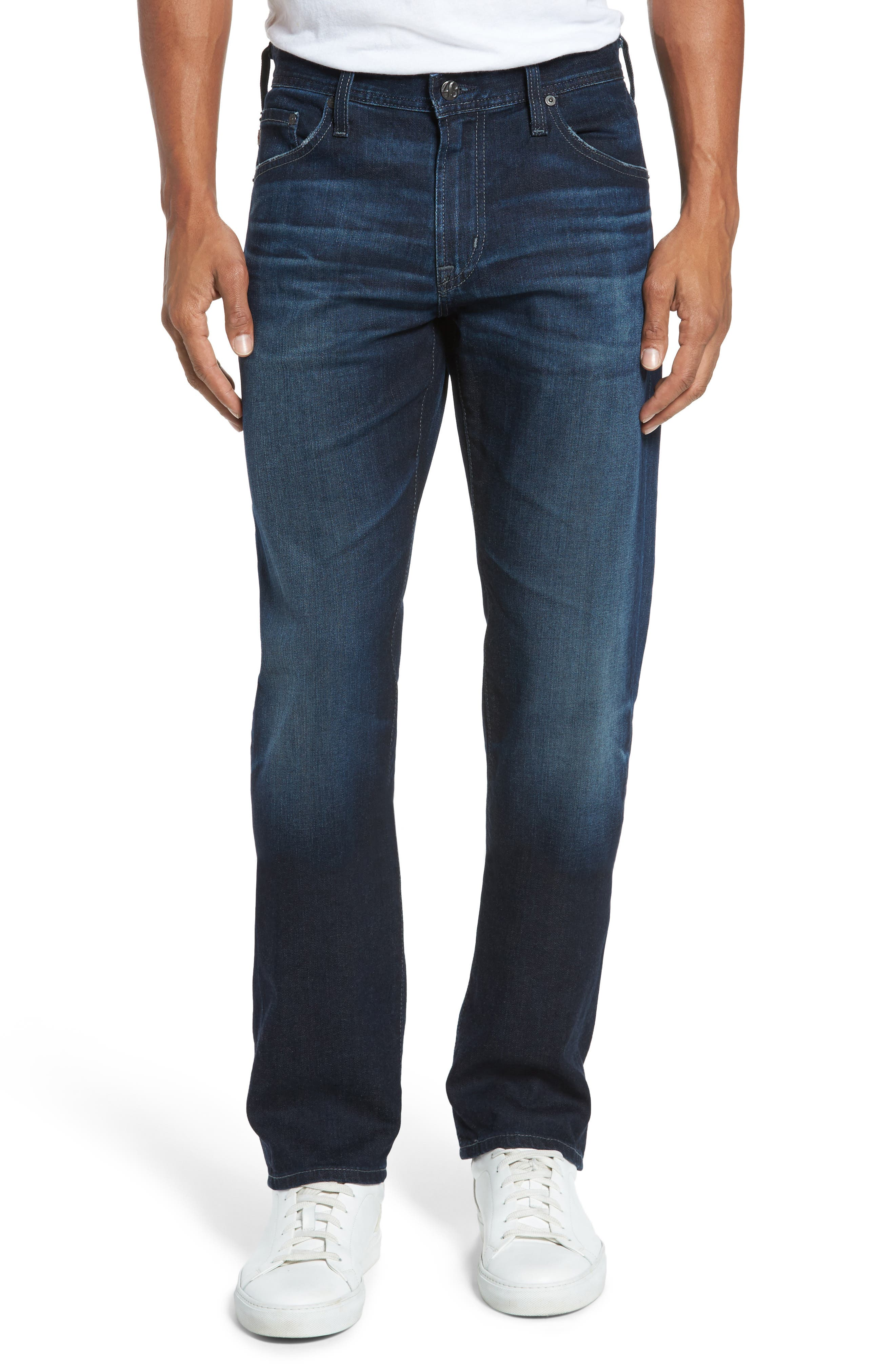 Main Image - AG Graduate Slim Straight Fit Jeans (4 Years Gone)