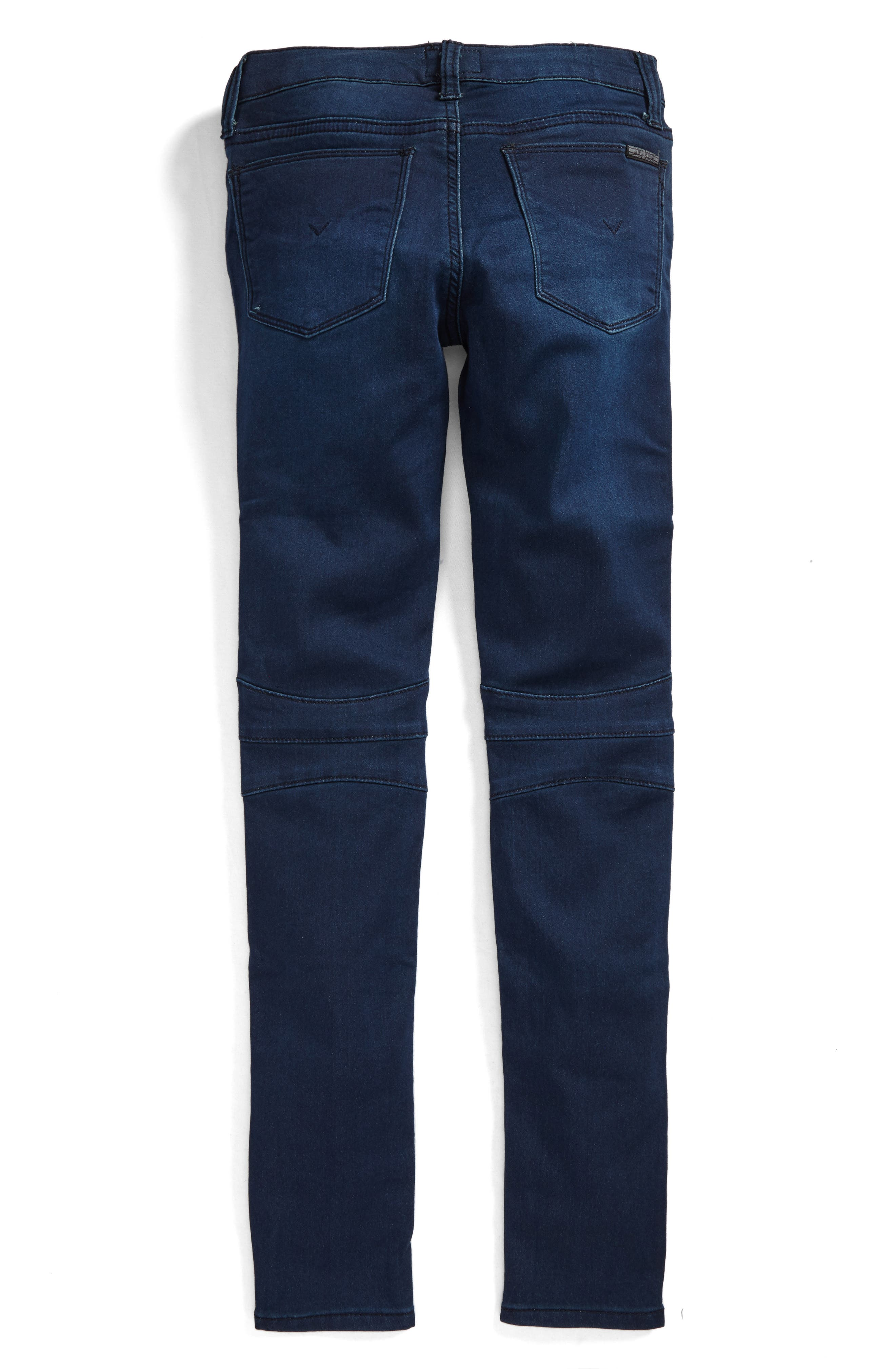 Alternate Image 2  - Hudson Kids French Terry Moto Jeans (Big Girls)