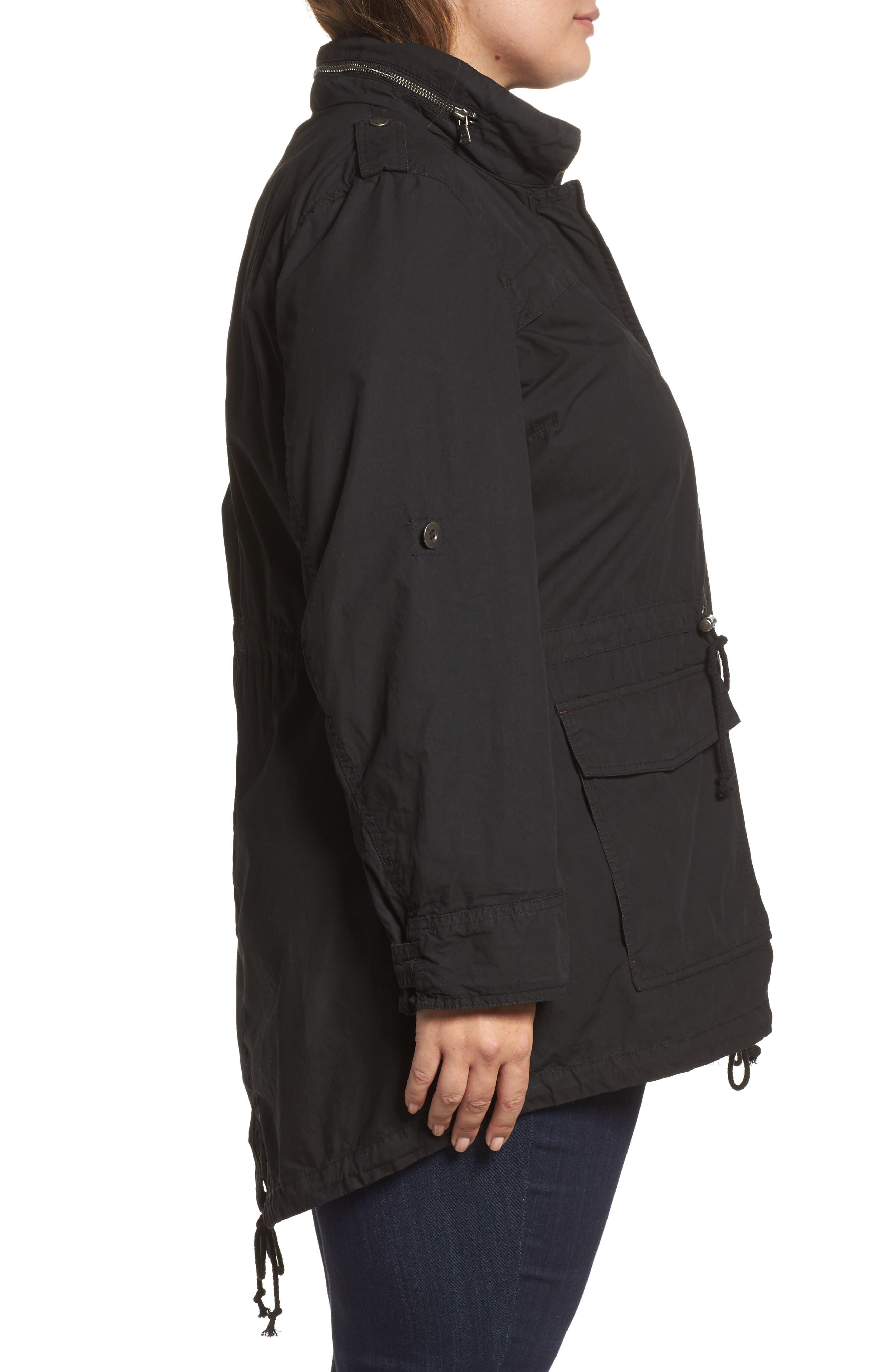 Alternate Image 3  - Levi's® Parachute Hooded Cotton Utility Jacket (Plus Size)