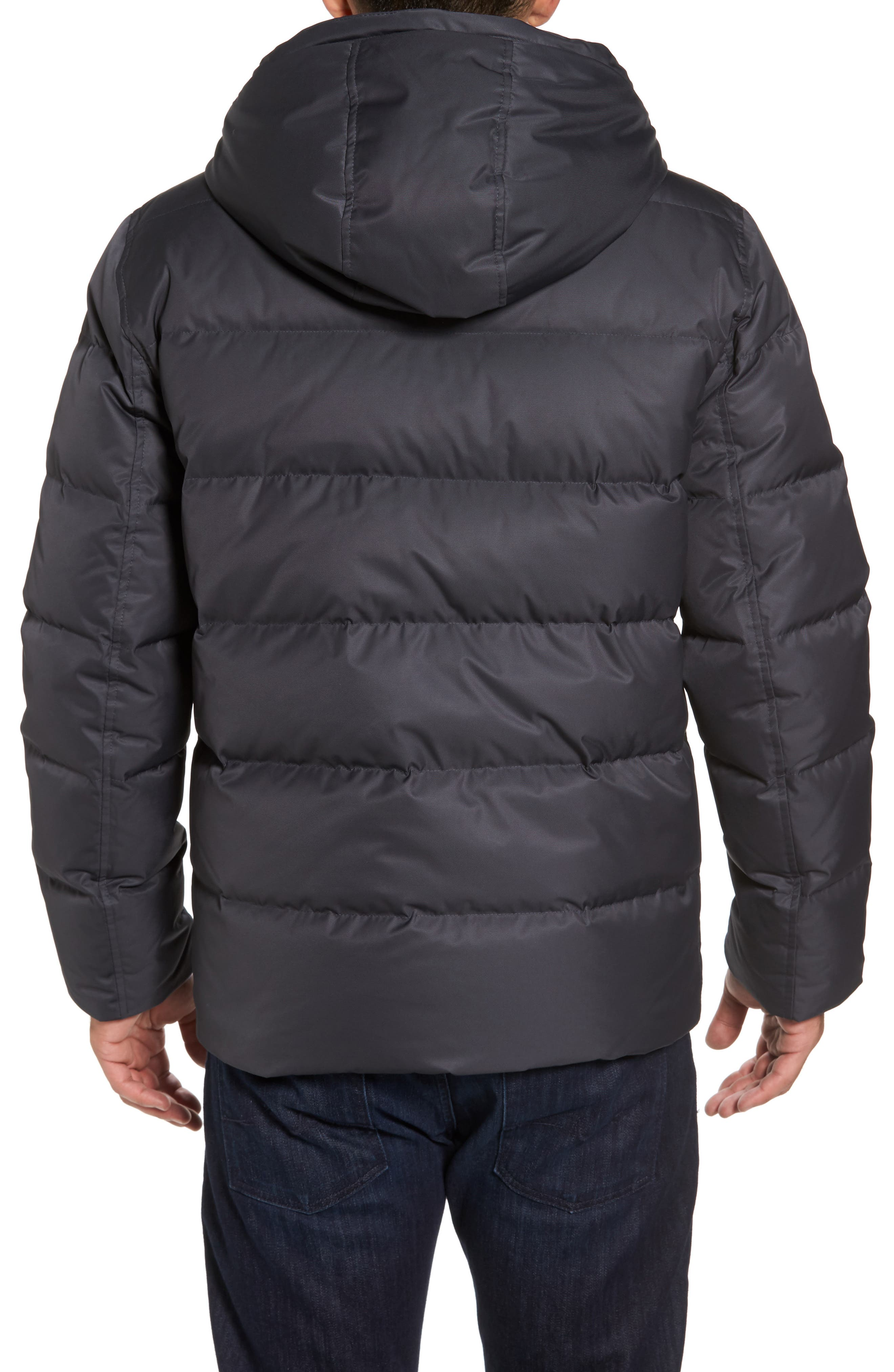 Alternate Image 2  - Andrew Marc Groton Slim Down Jacket with Faux Shearling Lining