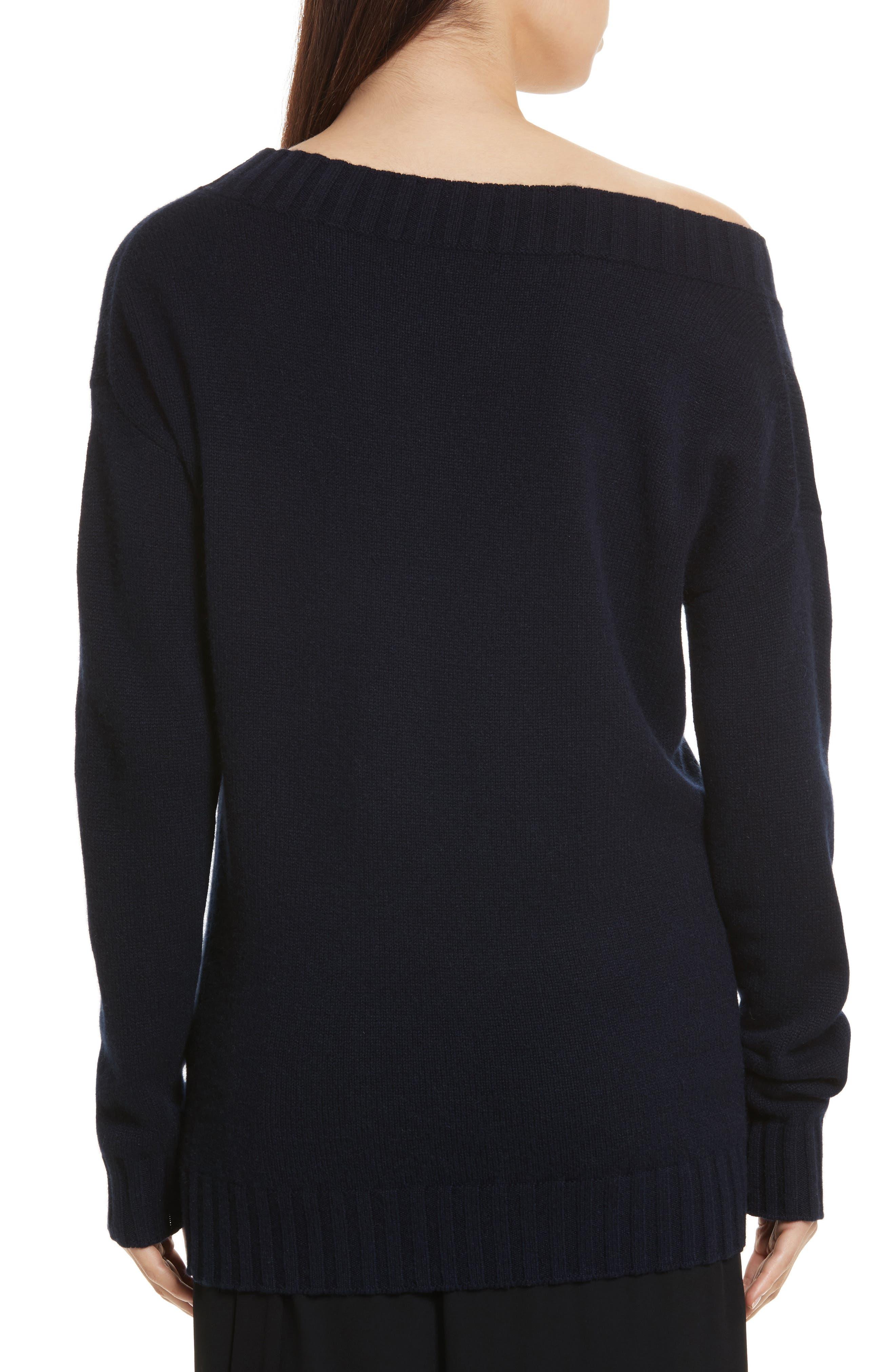 Alternate Image 2  - Vince Off the Shoulder Wool & Cashmere Sweater