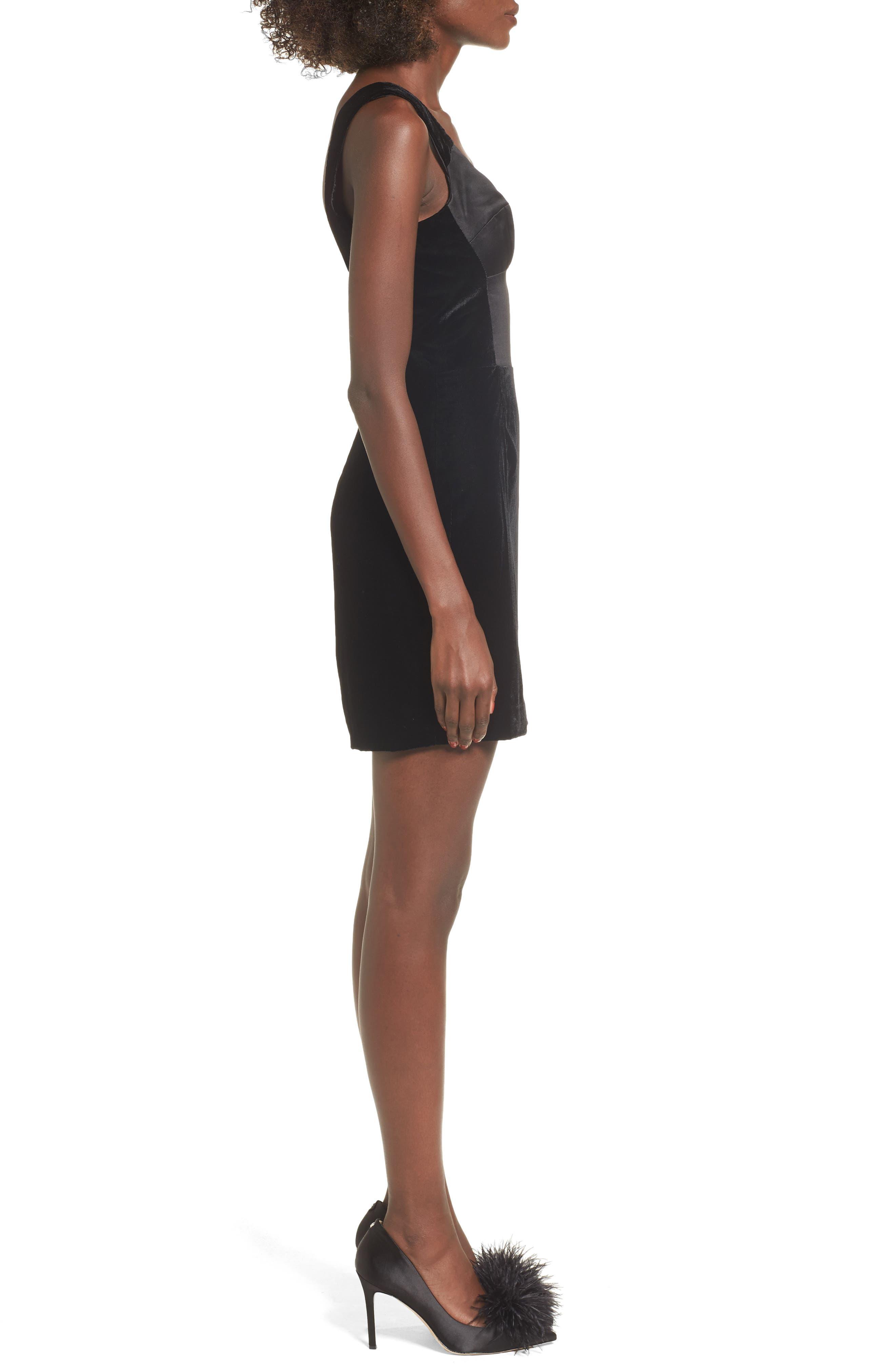 Alternate Image 4  - Topshop Velvet Minidress
