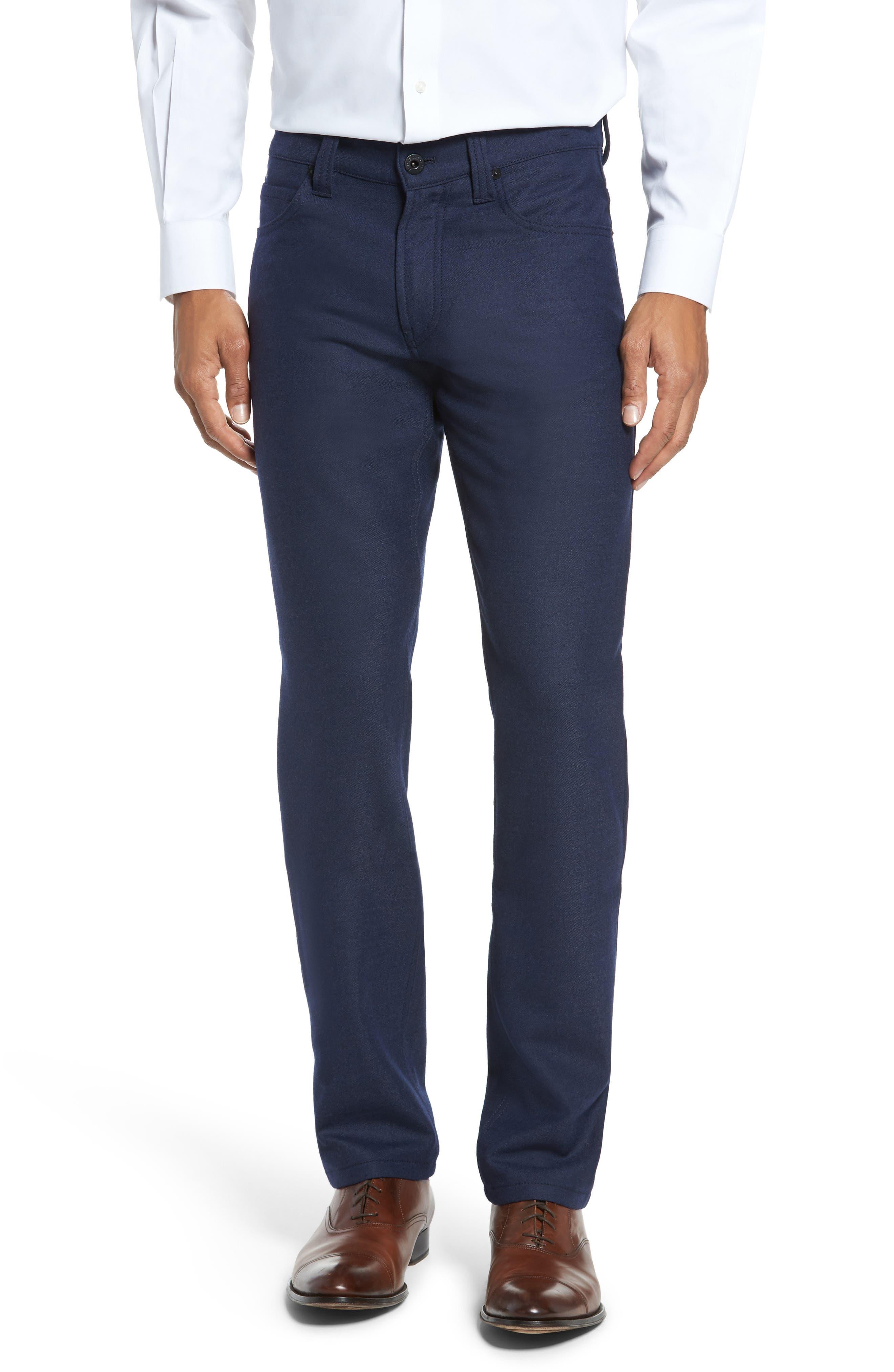 Wool Blend Pants,                         Main,                         color, Navy