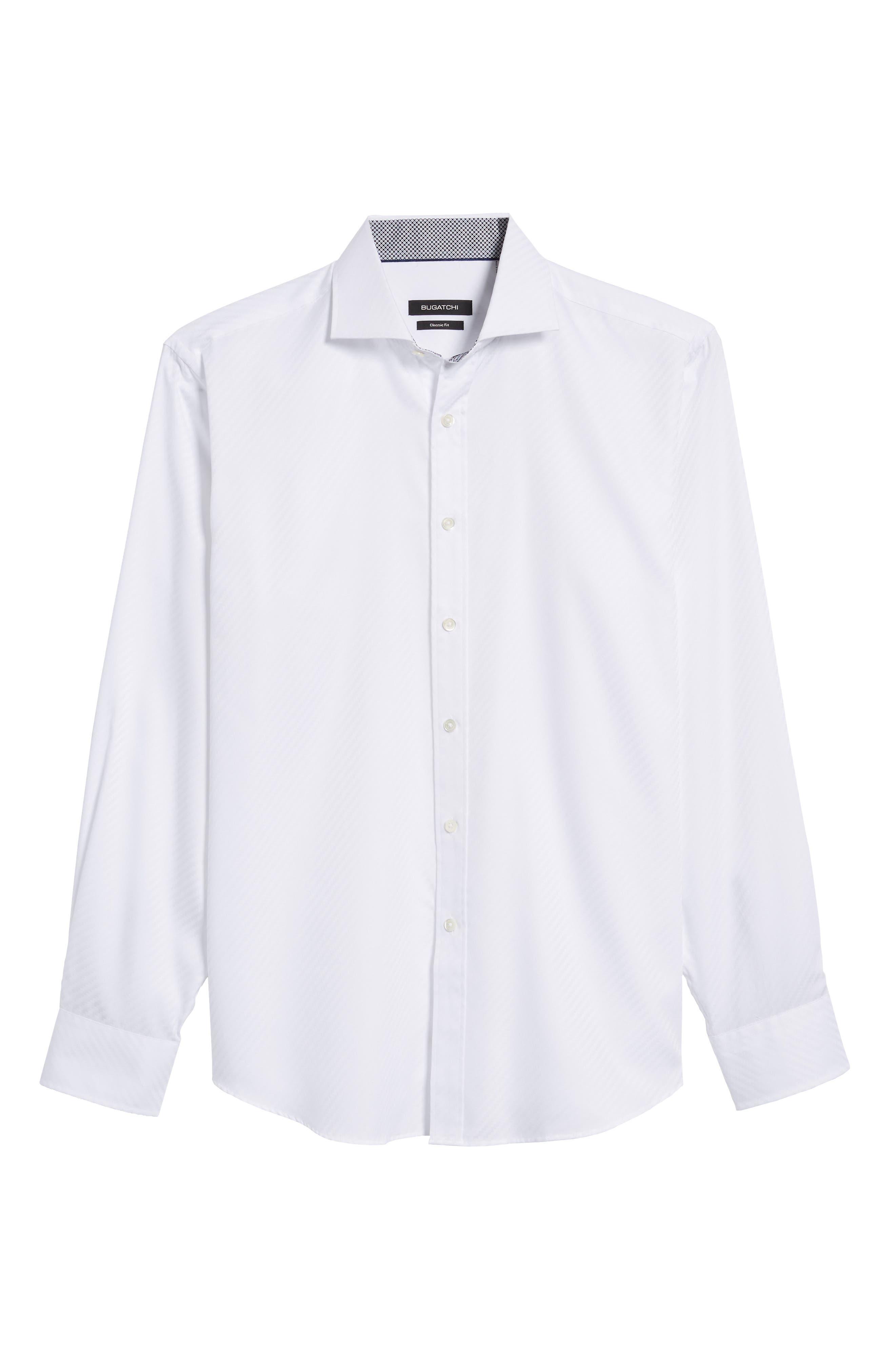 Alternate Image 6  - Bugatchi Classic Fit Diagonal Jacquard Sport Shirt