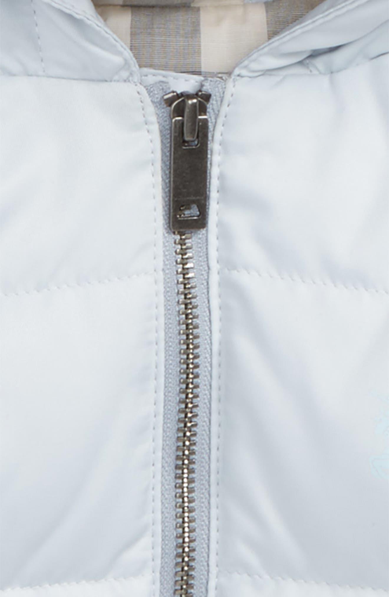 Alternate Image 2  - Burberry Rilla Hooded Down Jacket (Baby)